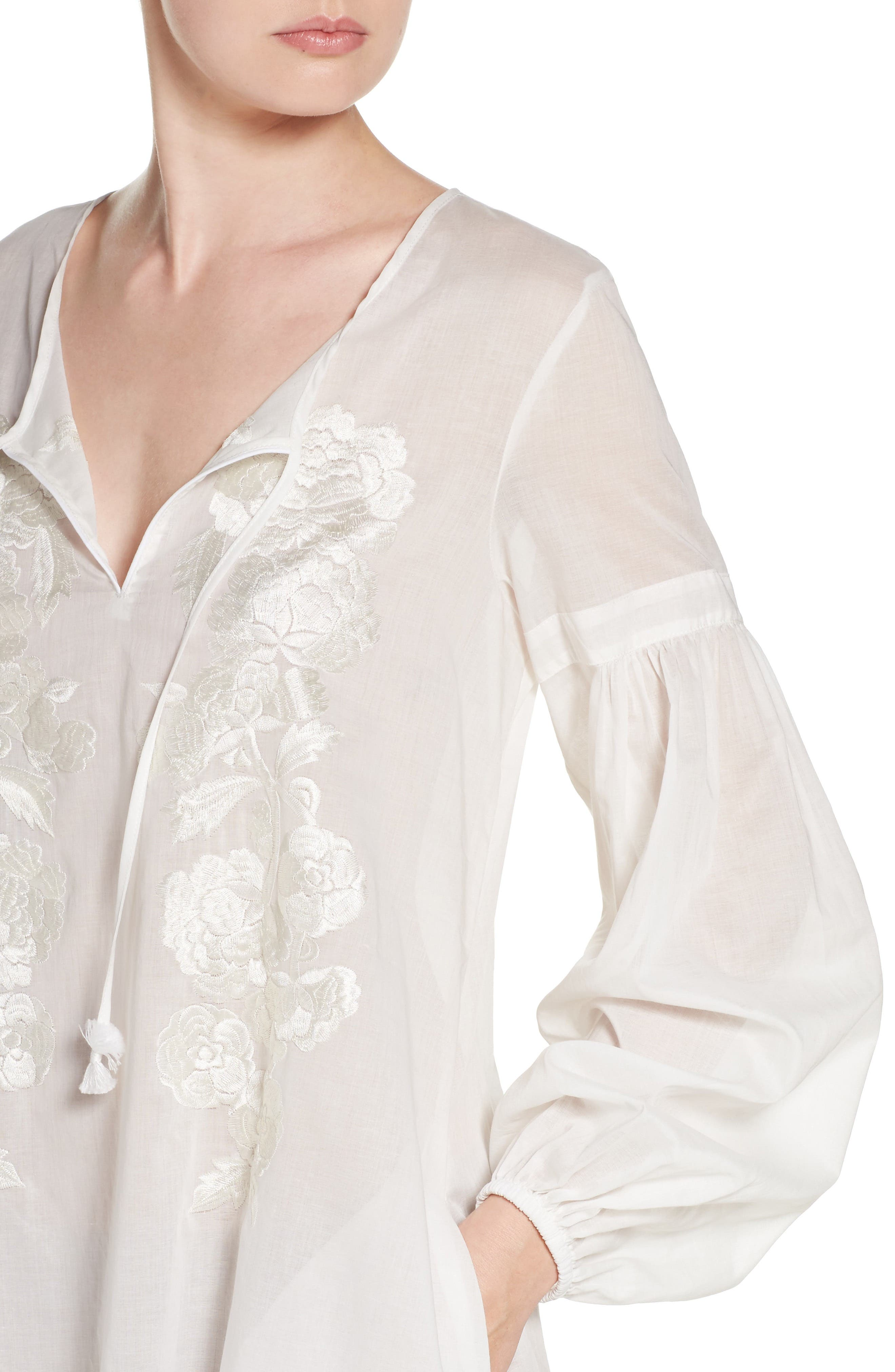 Alternate Image 4  - Natori Cebu Peasant Sleep Shirt