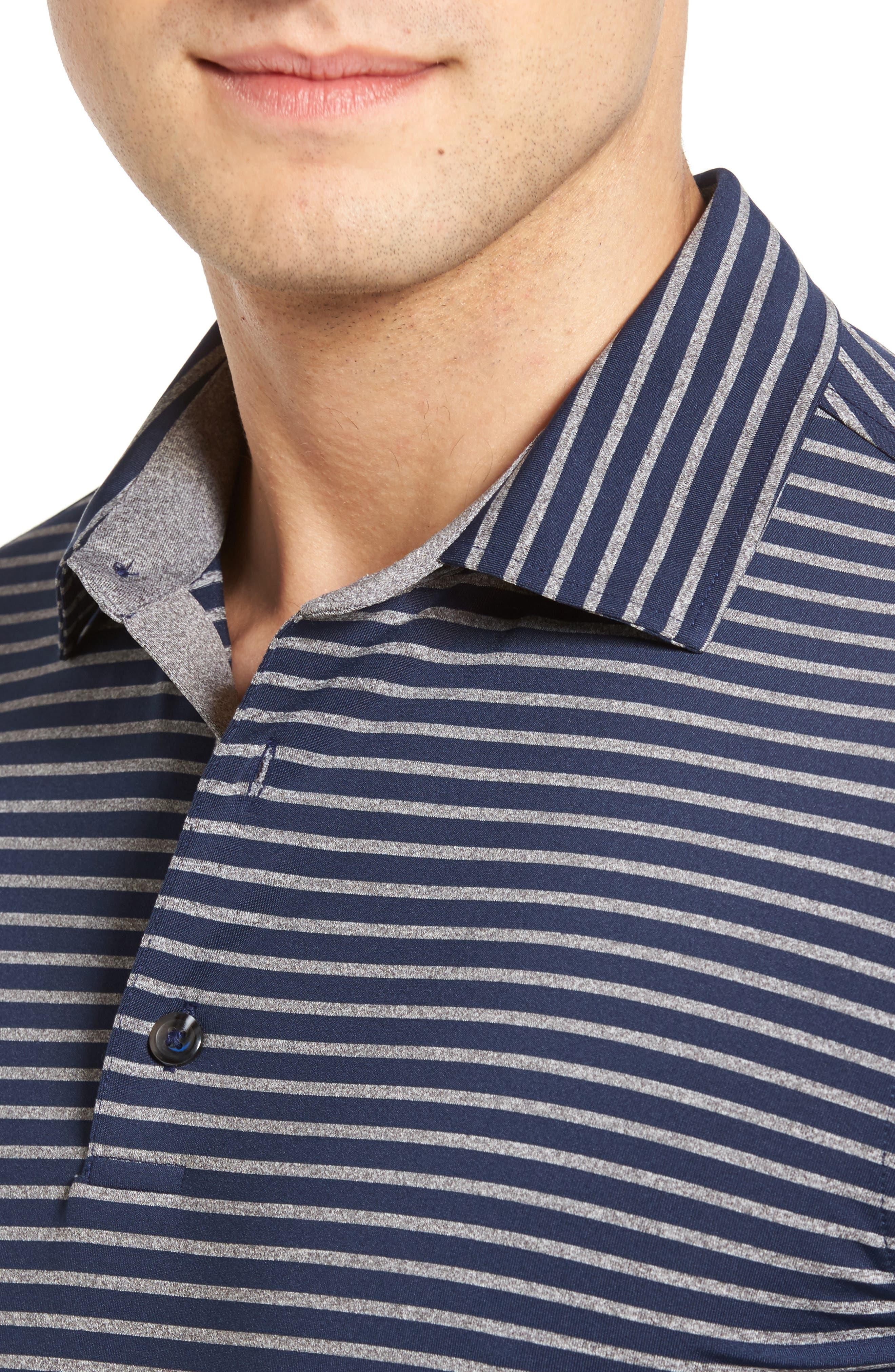 Alternate Image 4  - Bobby Jones Control Stripe Jersey Polo