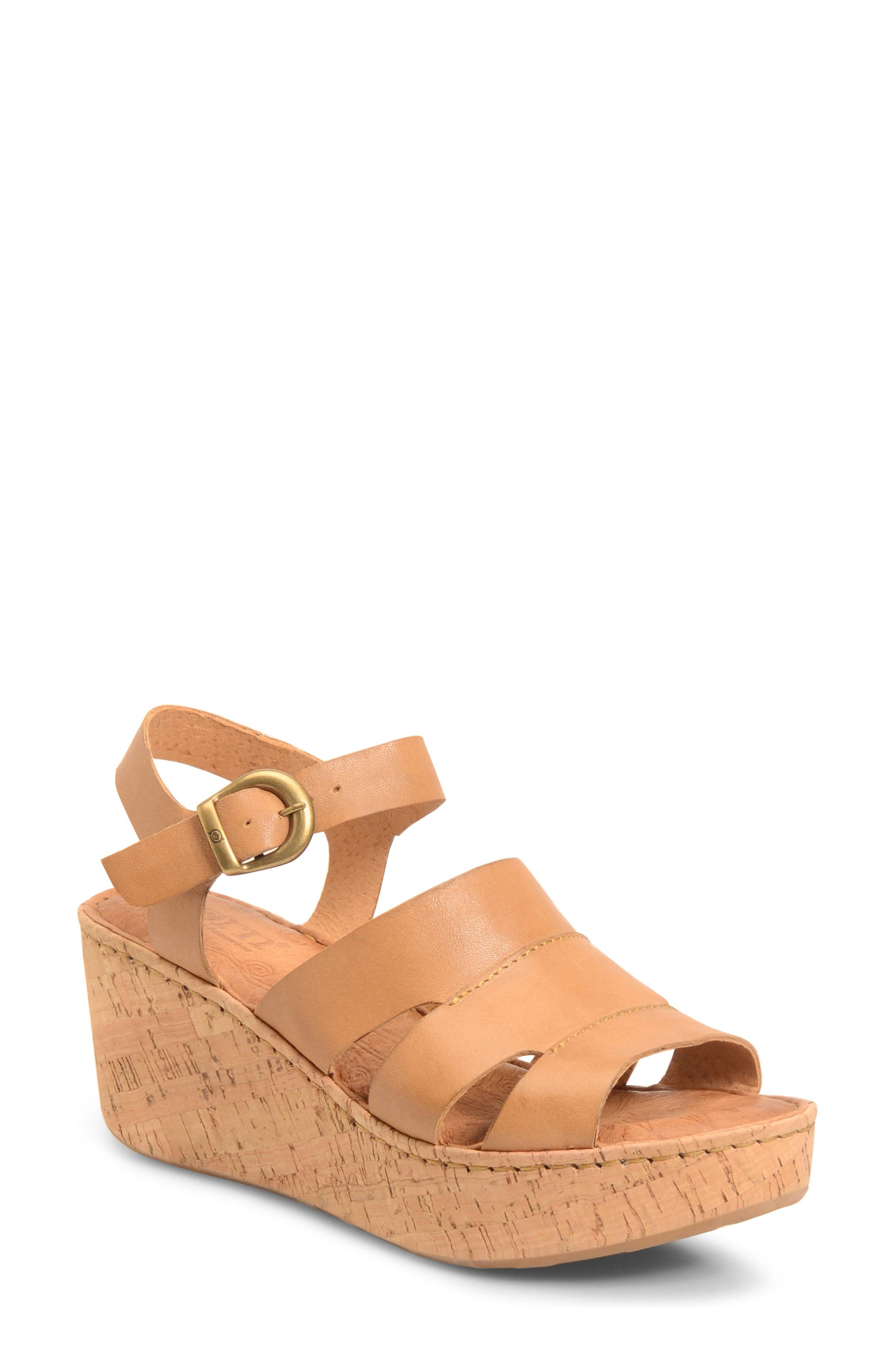 Alternate Image 1 Selected - Børn Anori Platform Wedge Sandal (Women)