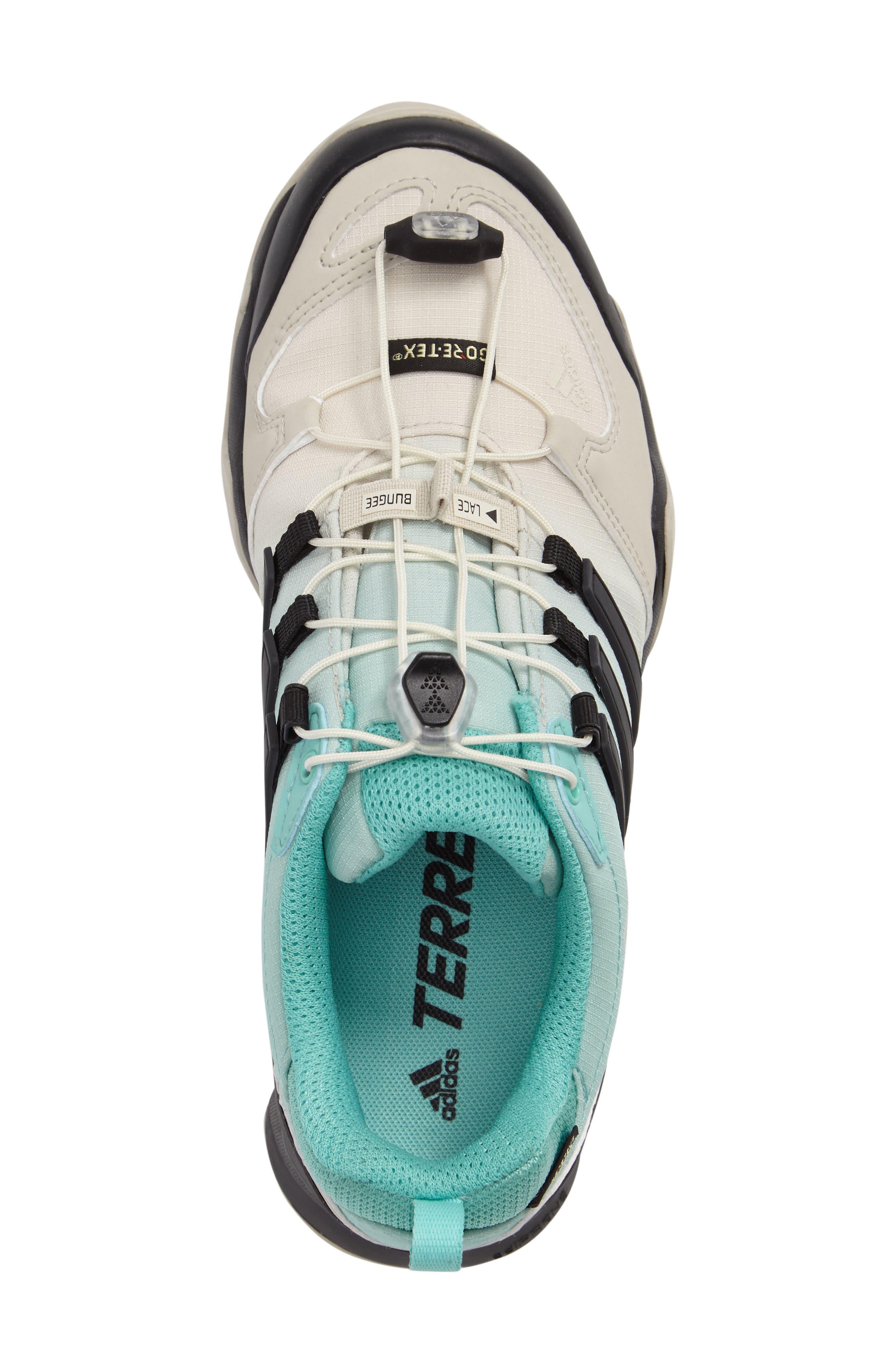 Terrex Swift R GTX Hiking Shoe,                             Alternate thumbnail 3, color,                             Clear Brown/ Black/ Easy Mint
