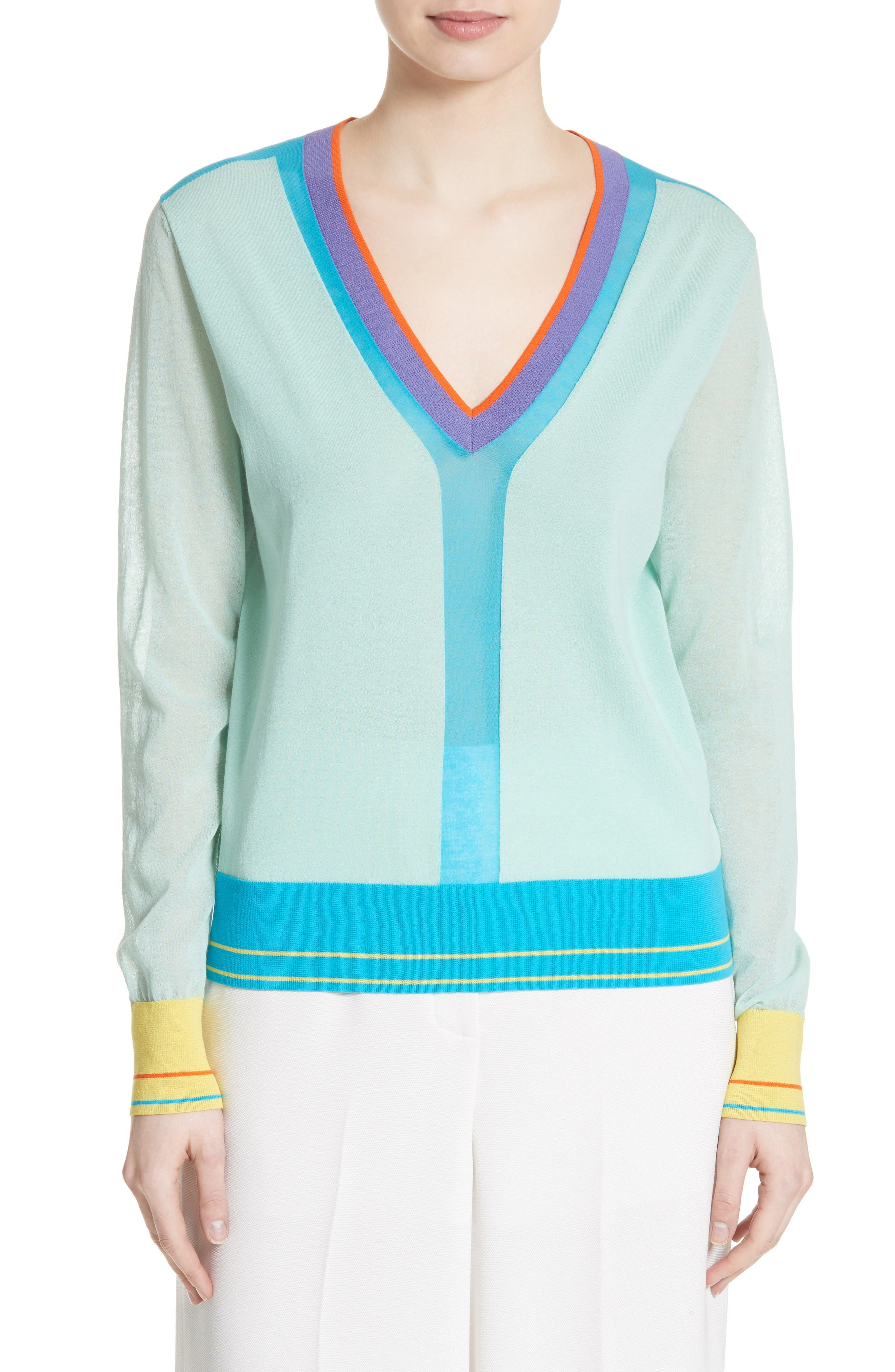 Diane von Furstenberg Colorblock Sweater
