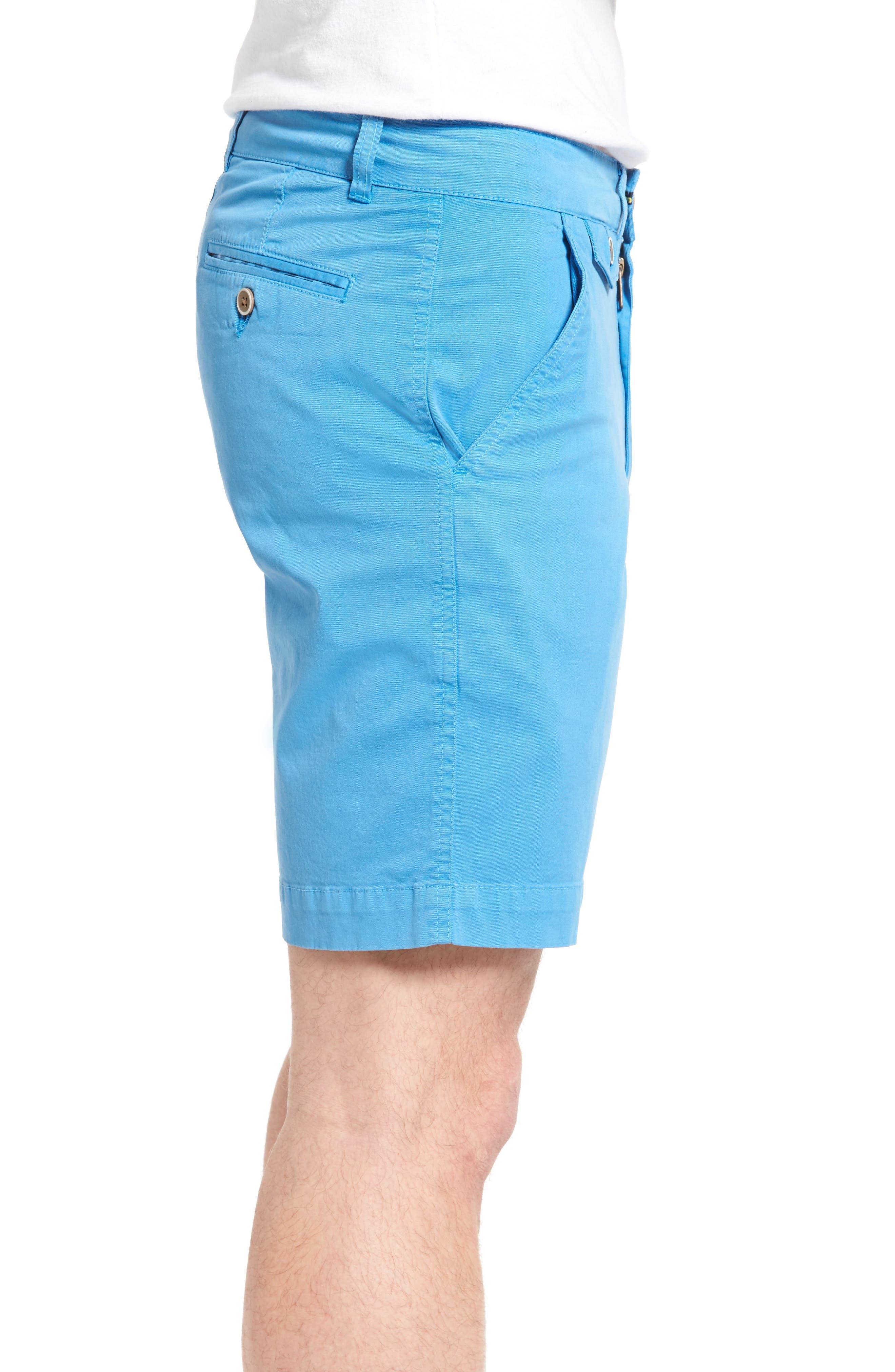 'Sunny' Stretch Chino Shorts,                             Alternate thumbnail 3, color,                             Hurricane
