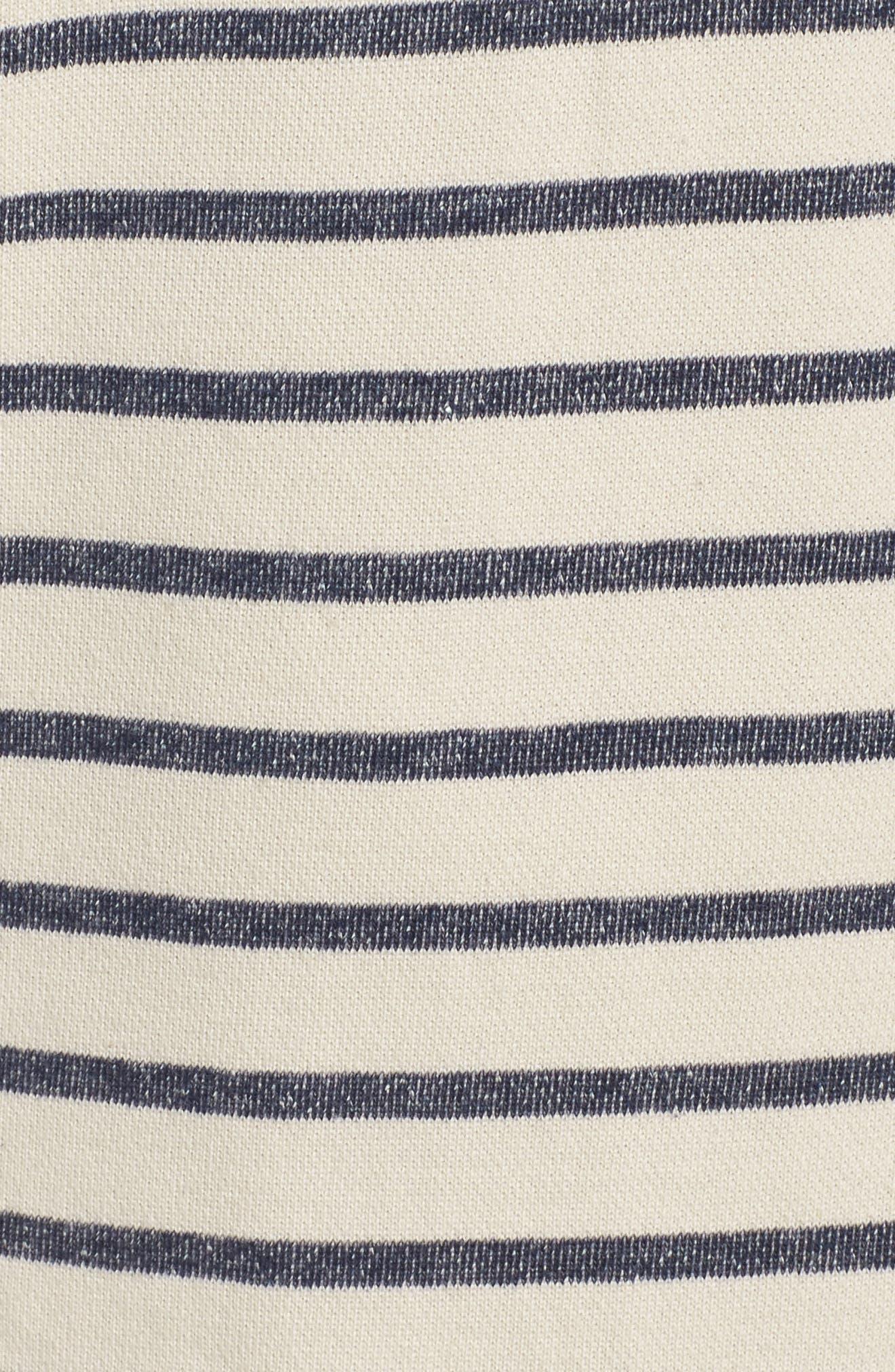 Normandy Stripe Dress,                             Alternate thumbnail 6, color,                             Brule/ Indigo