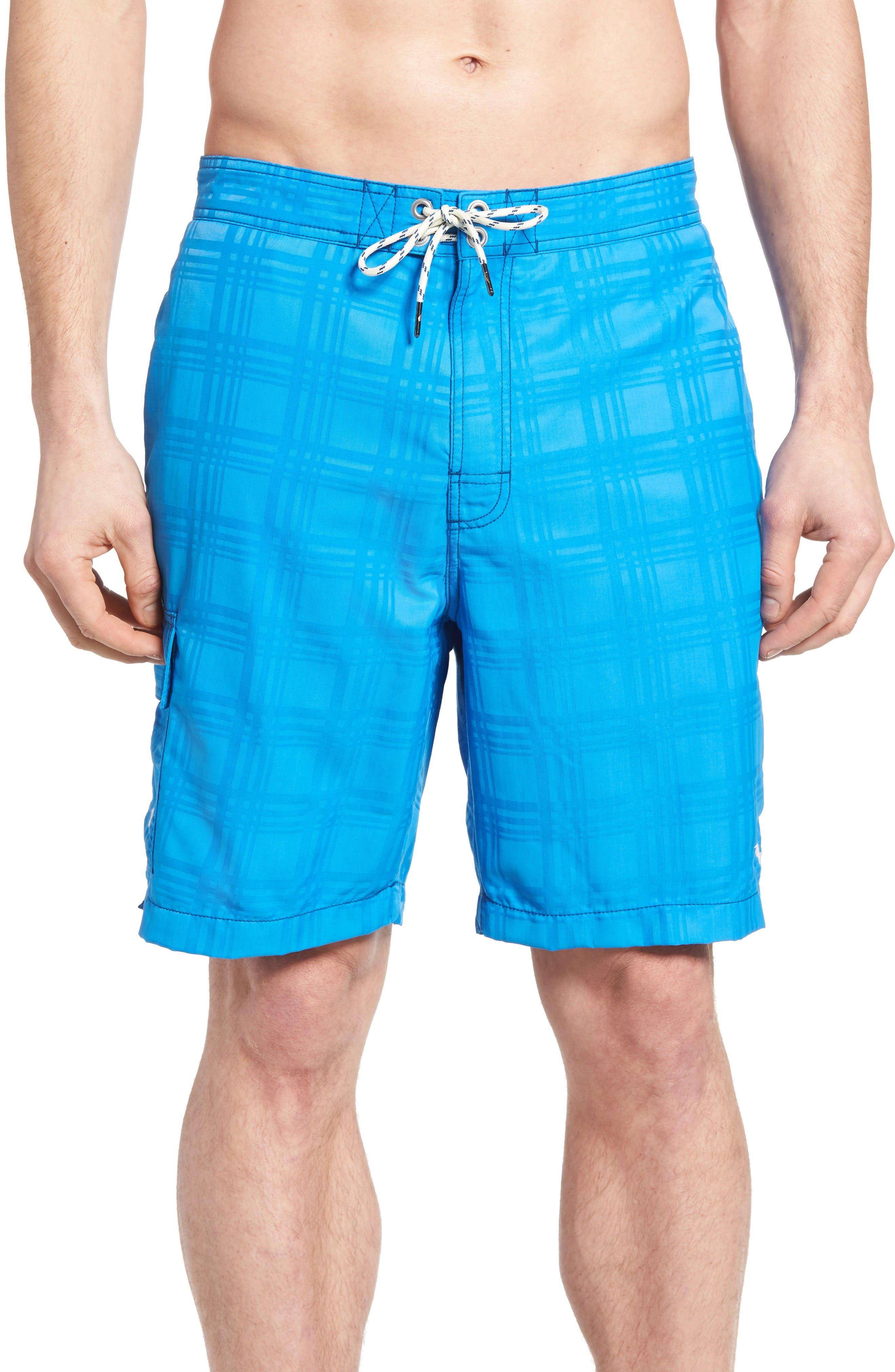 Alternate Image 1 Selected - Tommy Bahama Baja Plaid Swim Trunks