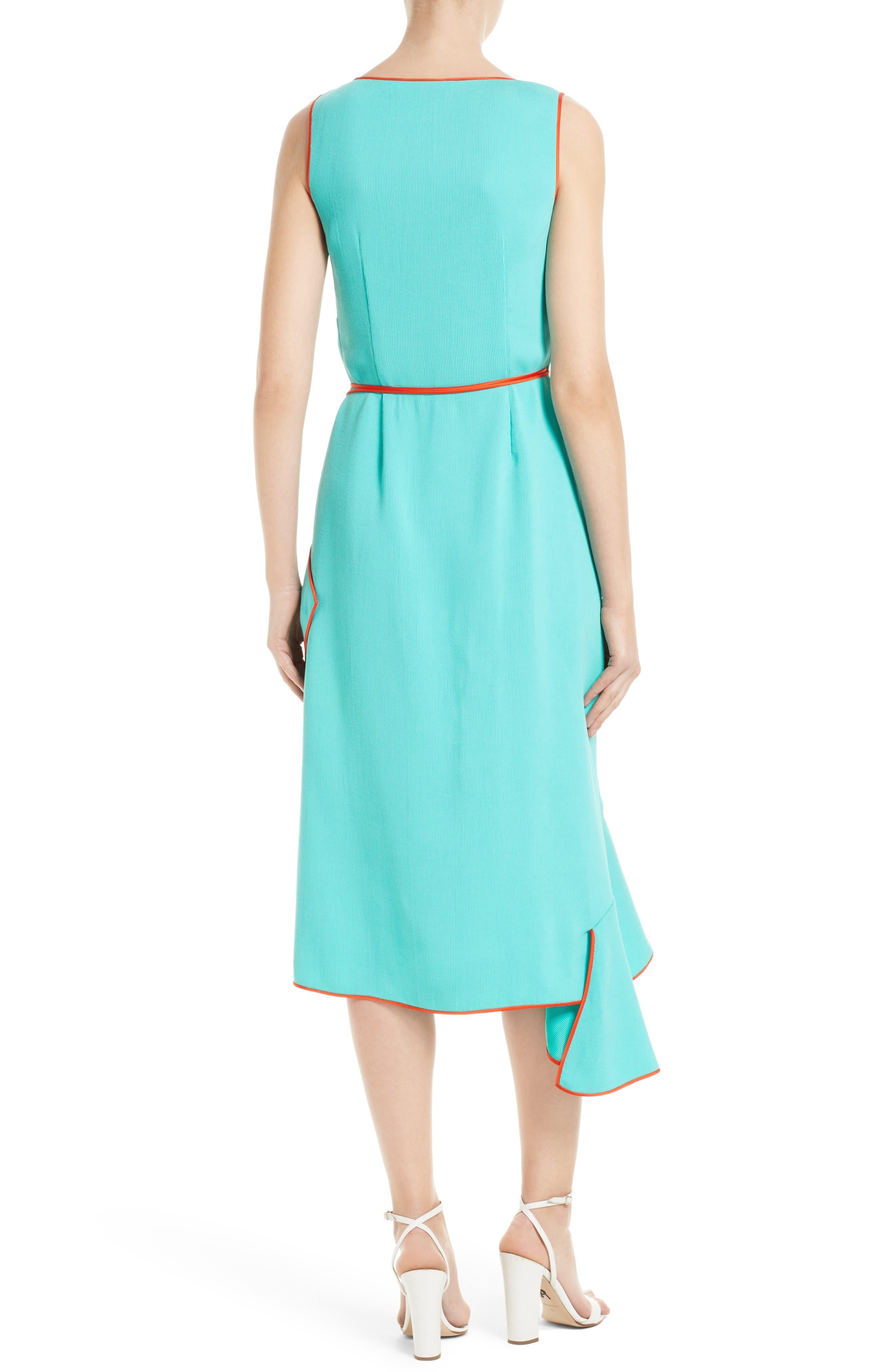 Alternate Image 2  - Diane von Furstenberg Asymmetrical Ruffle Wrap Midi Dress