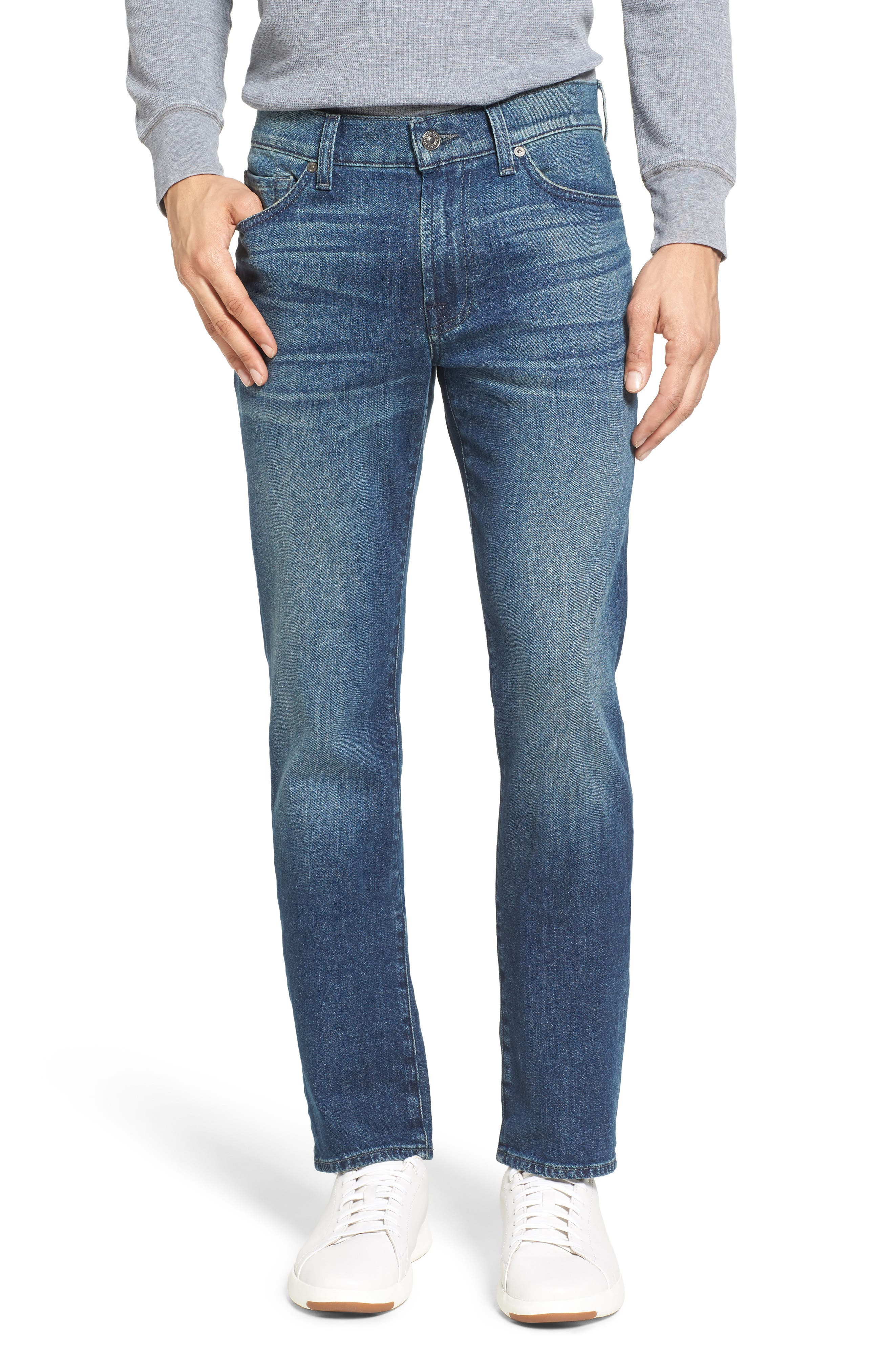 7 For All Mankind Slimmy Slim Fit Jeans,                             Main thumbnail 1, color,                             Calgary Blue