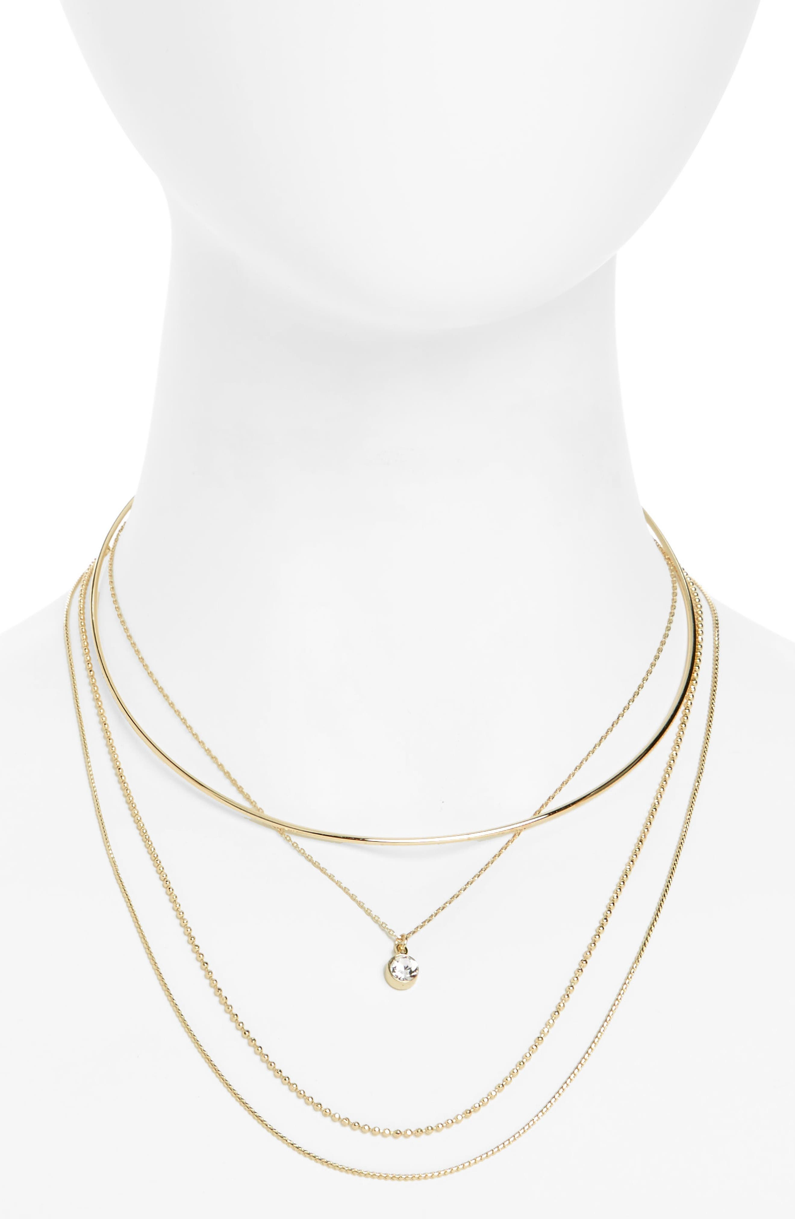 Alternate Image 1 Selected - Topshop 3-Pack Necklaces