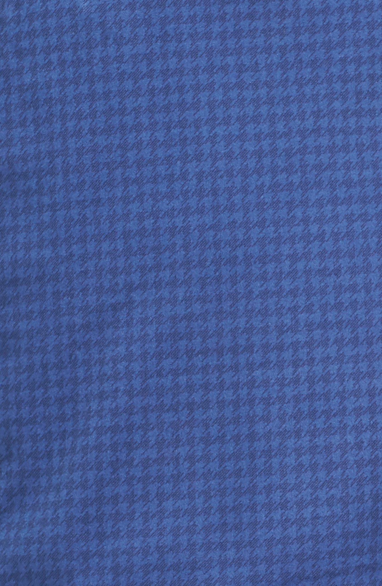 Houndstooth Print Golf Chinos,                             Alternate thumbnail 5, color,                             Blue