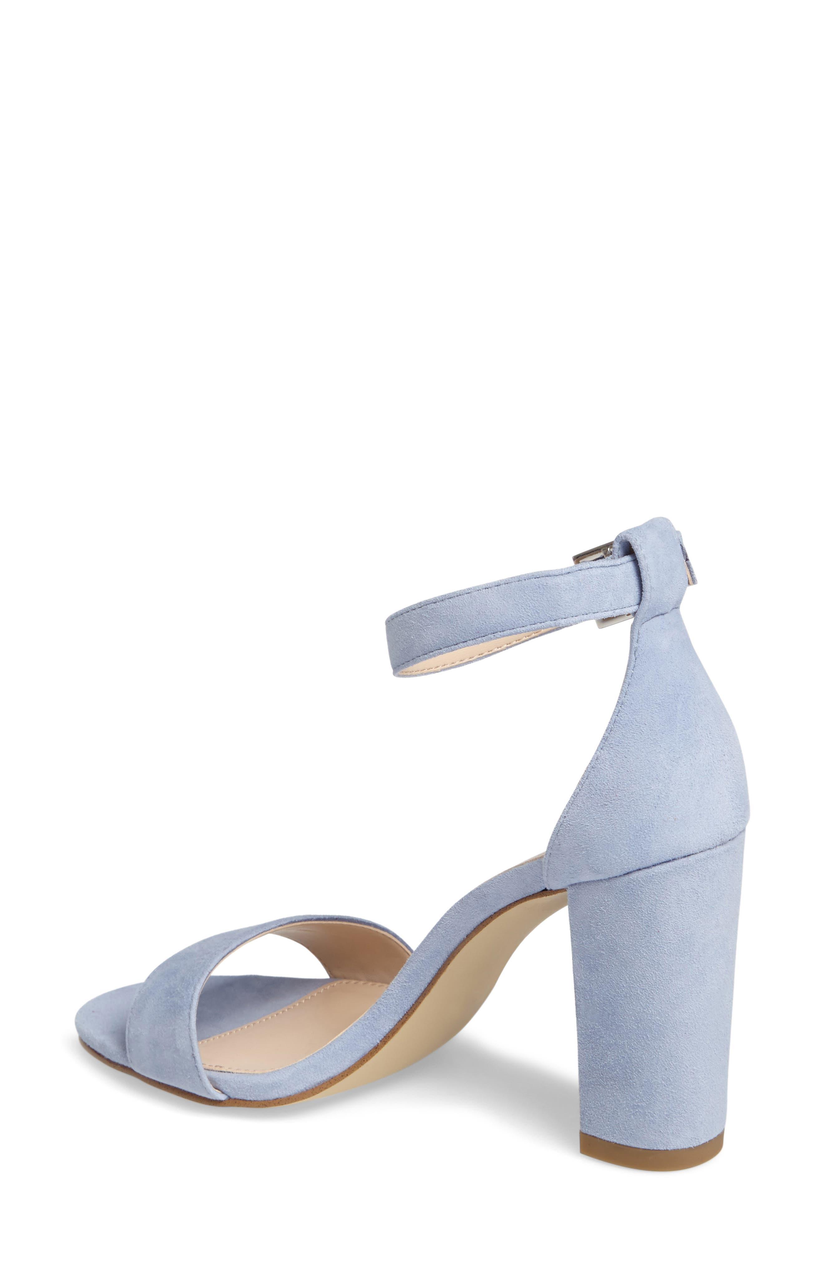 'Bonnie' Ankle Strap Sandal,                             Alternate thumbnail 2, color,                             Powder Blue Leather