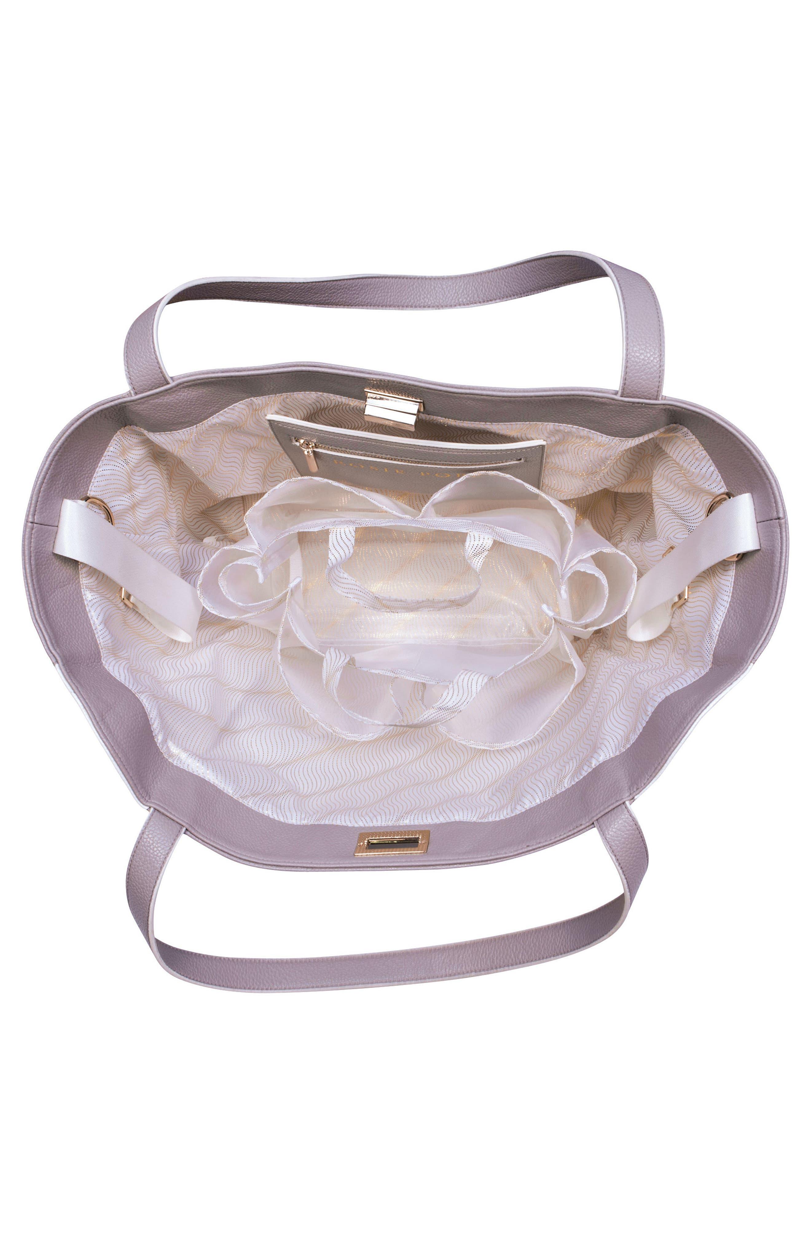 Sloane Diaper Bag,                             Alternate thumbnail 4, color,                             Neutral/ White