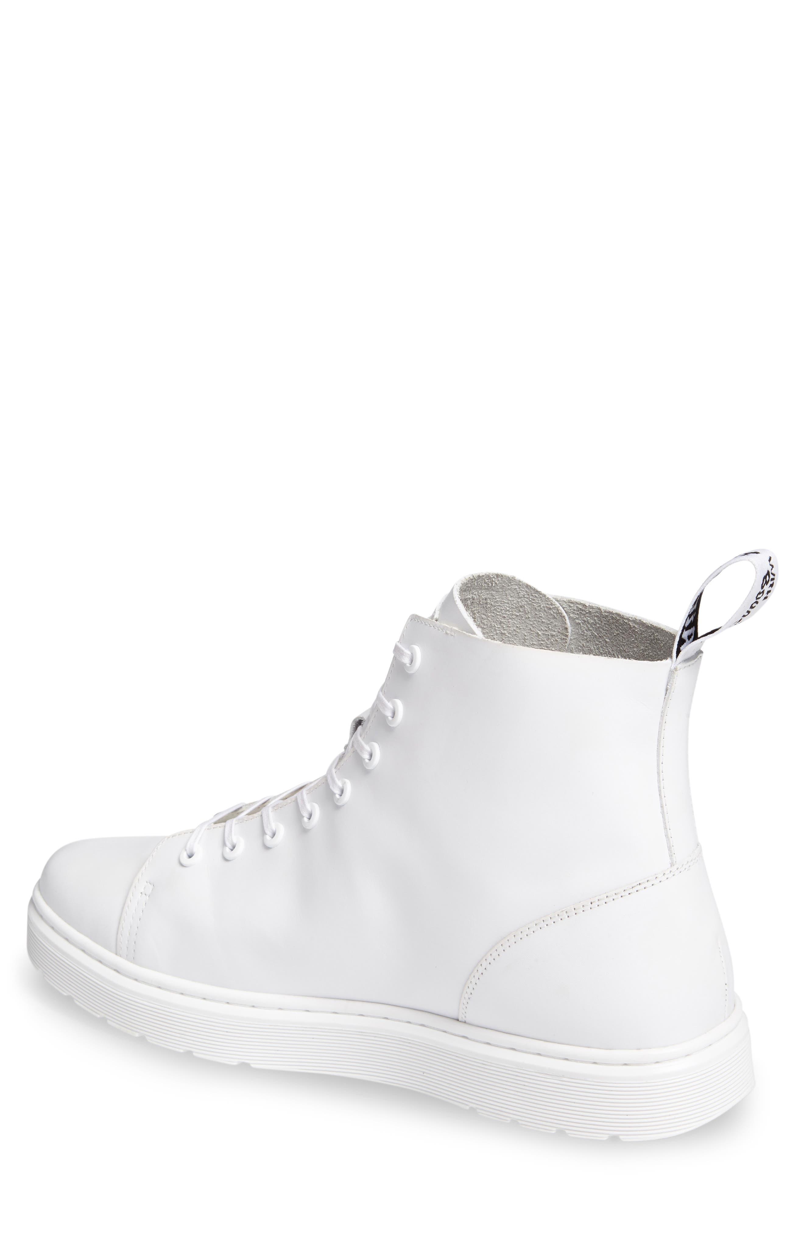 Talib Plain Toe Boot,                             Alternate thumbnail 2, color,                             White Leather