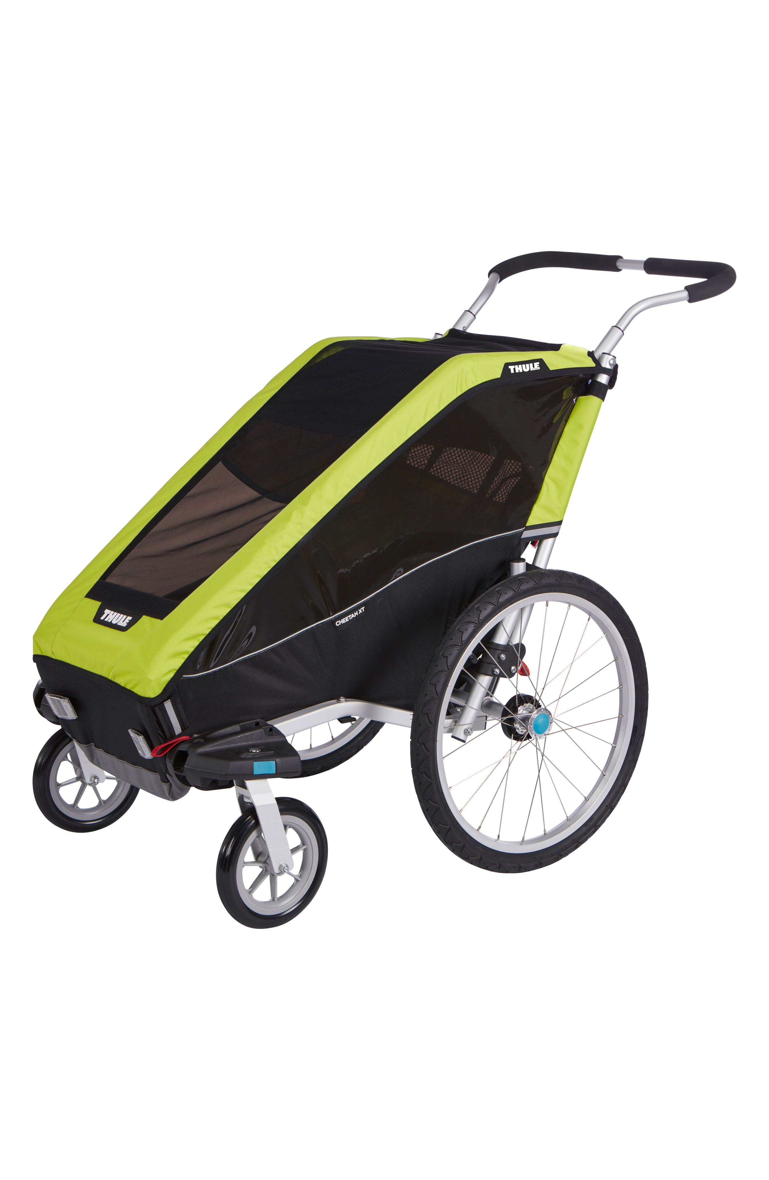 Chariot Cheetah XT 2 Multisport Cycle Trailer/Stroller,                             Main thumbnail 1, color,                             Chartreuse