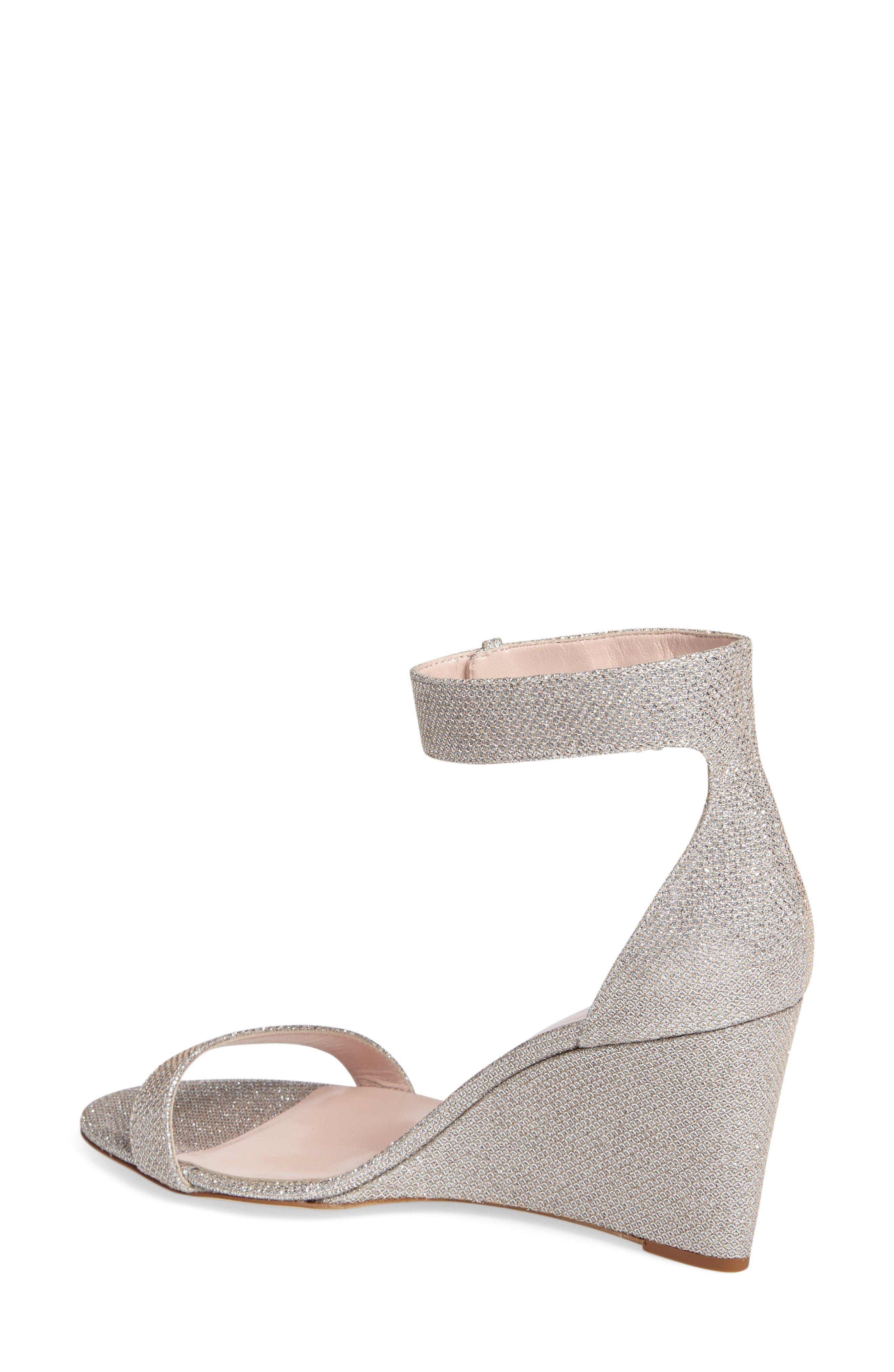 'ronia' wedge sandal,                             Alternate thumbnail 2, color,                             Silver/ Natural