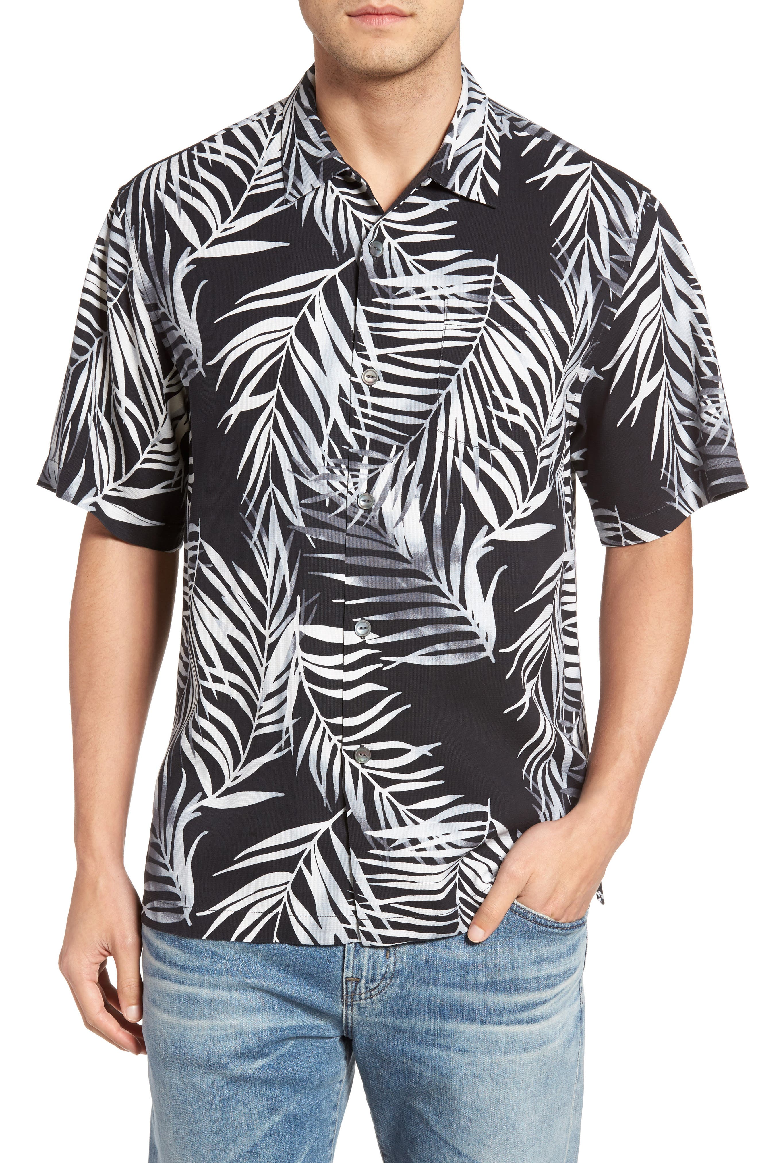 Main Image - Tommy Bahama Beyond Frond Silk Camp Shirt