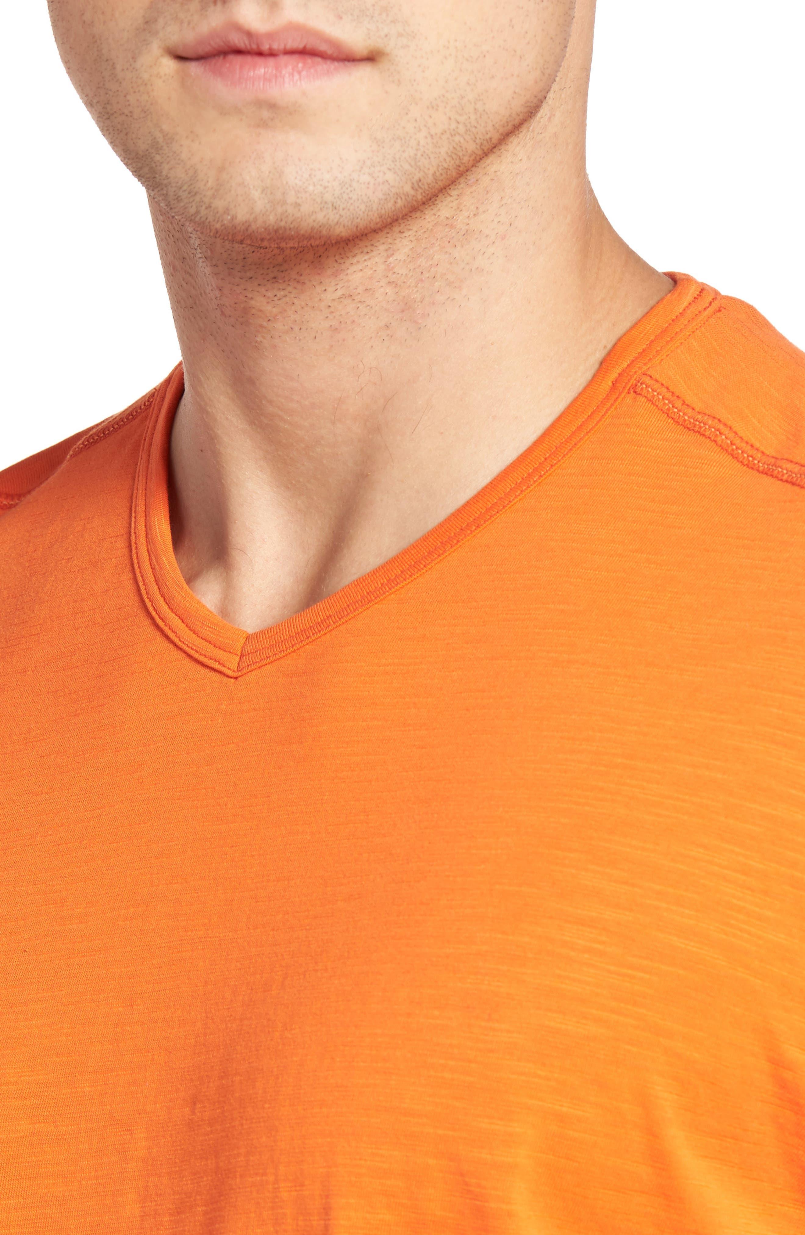 'Portside Player' Pima Cotton T-Shirt,                             Alternate thumbnail 4, color,                             Citrus Punch