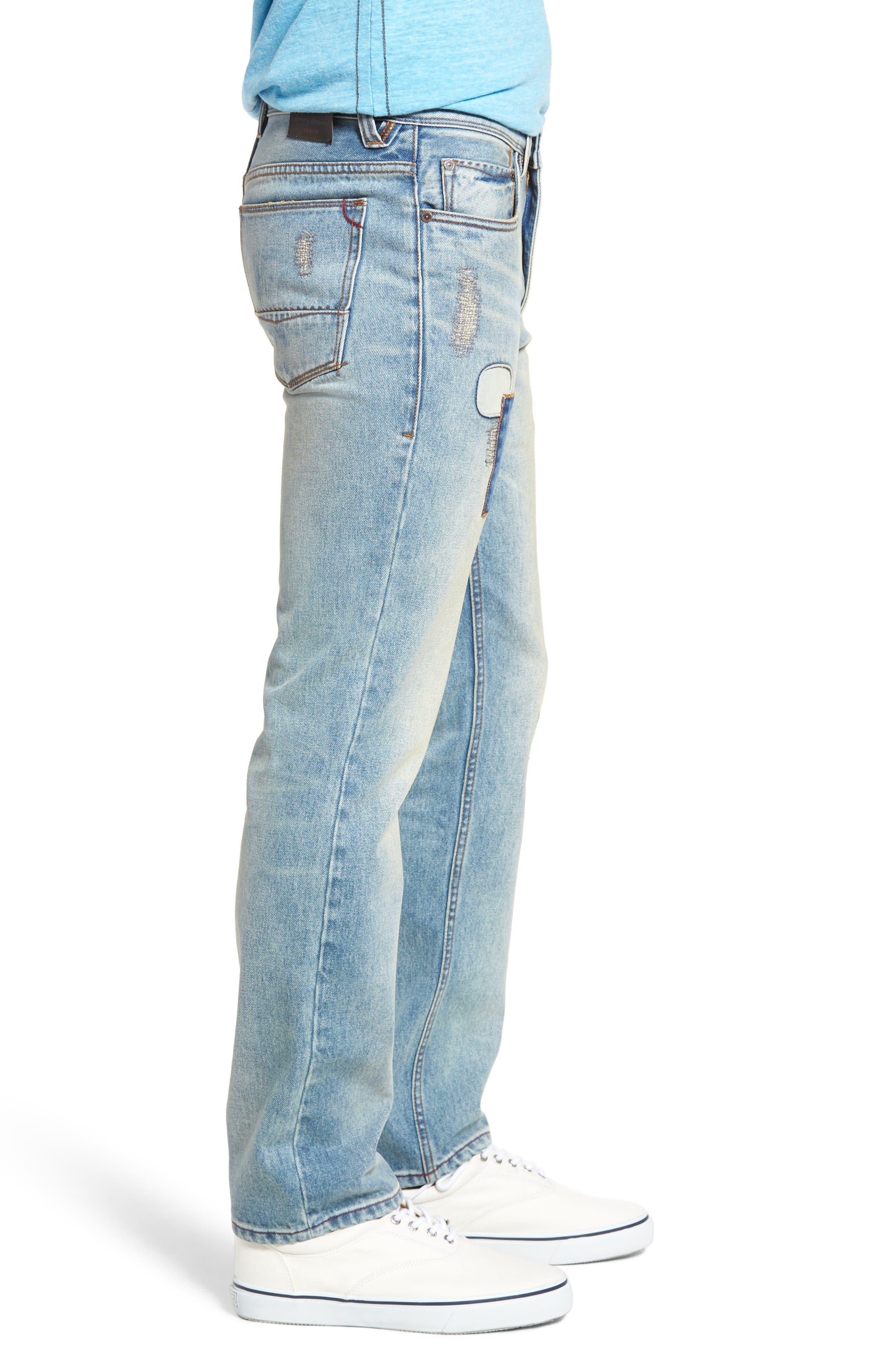 Castaway Slim Fit Jeans,                             Alternate thumbnail 3, color,                             Bleached Vintage Wash