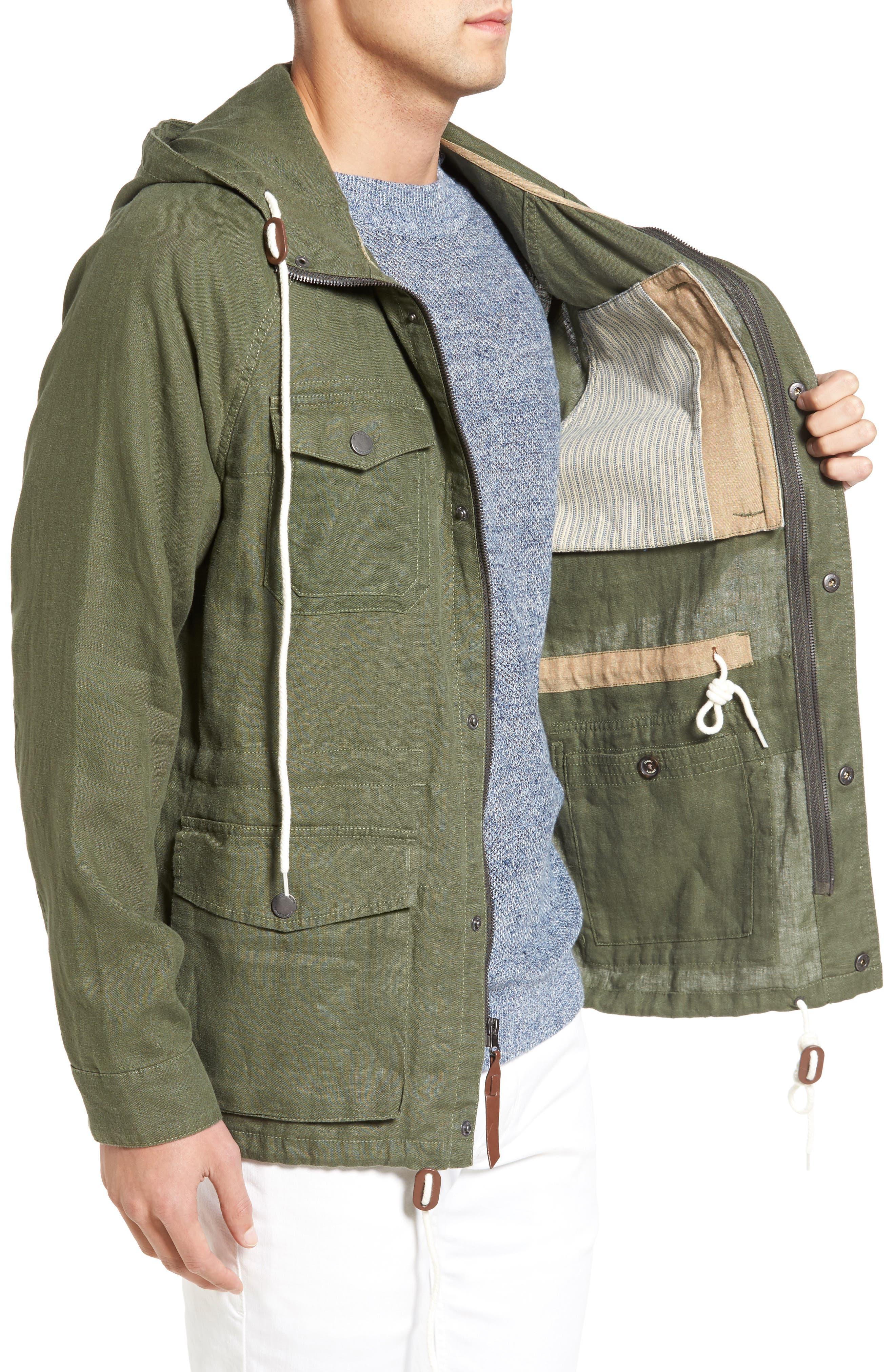 Alternate Image 3  - Tommy Bahama Harbor Linen Hooded Jacket
