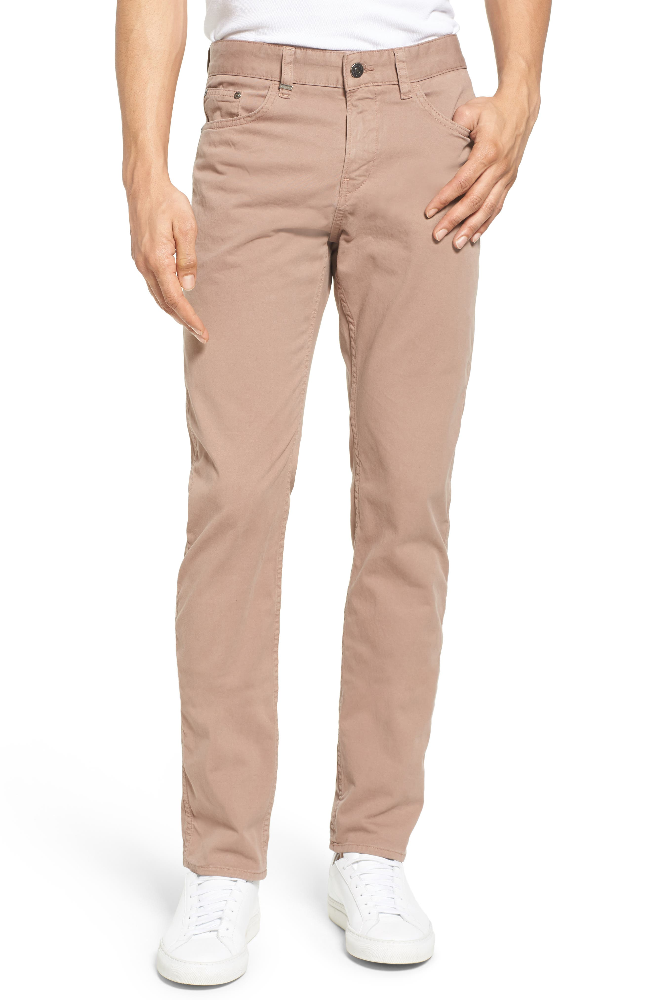 Delaware Slim Fit Stretch Cotton Pants,                             Main thumbnail 1, color,                             Khaki