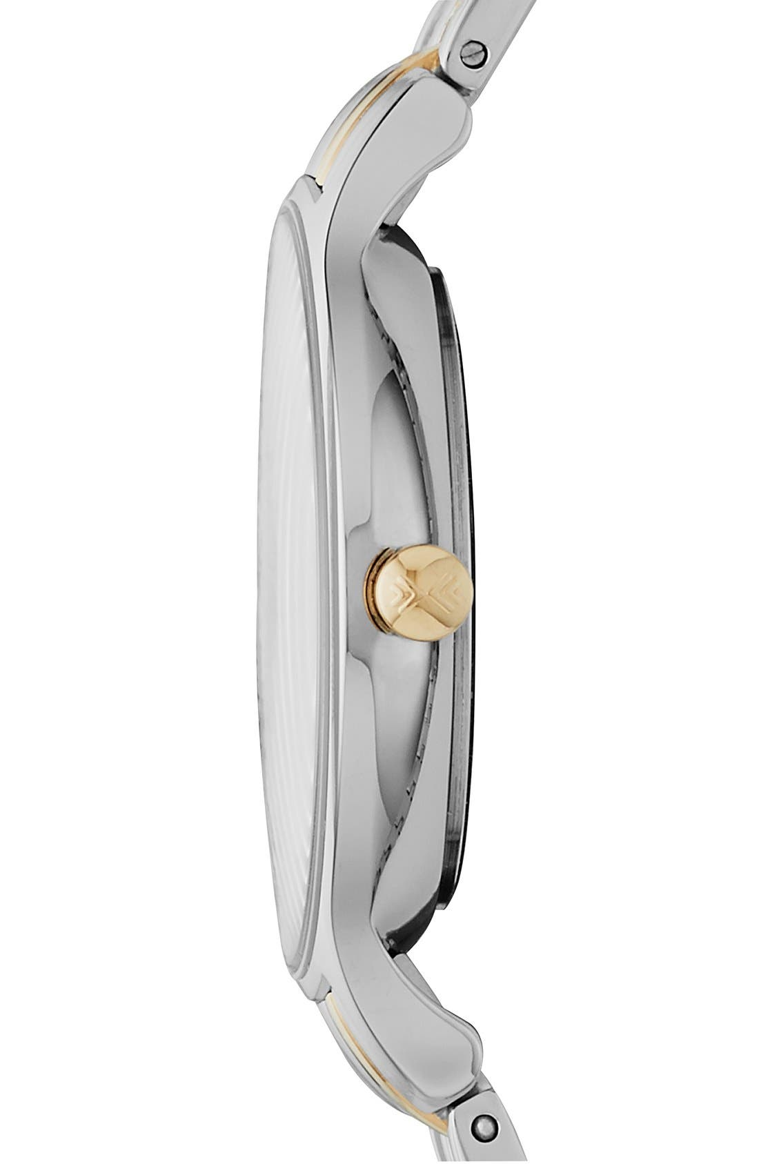 'Anita' Crystal Index Bracelet Watch, 30mm,                             Alternate thumbnail 2, color,                             Silver/ Gold