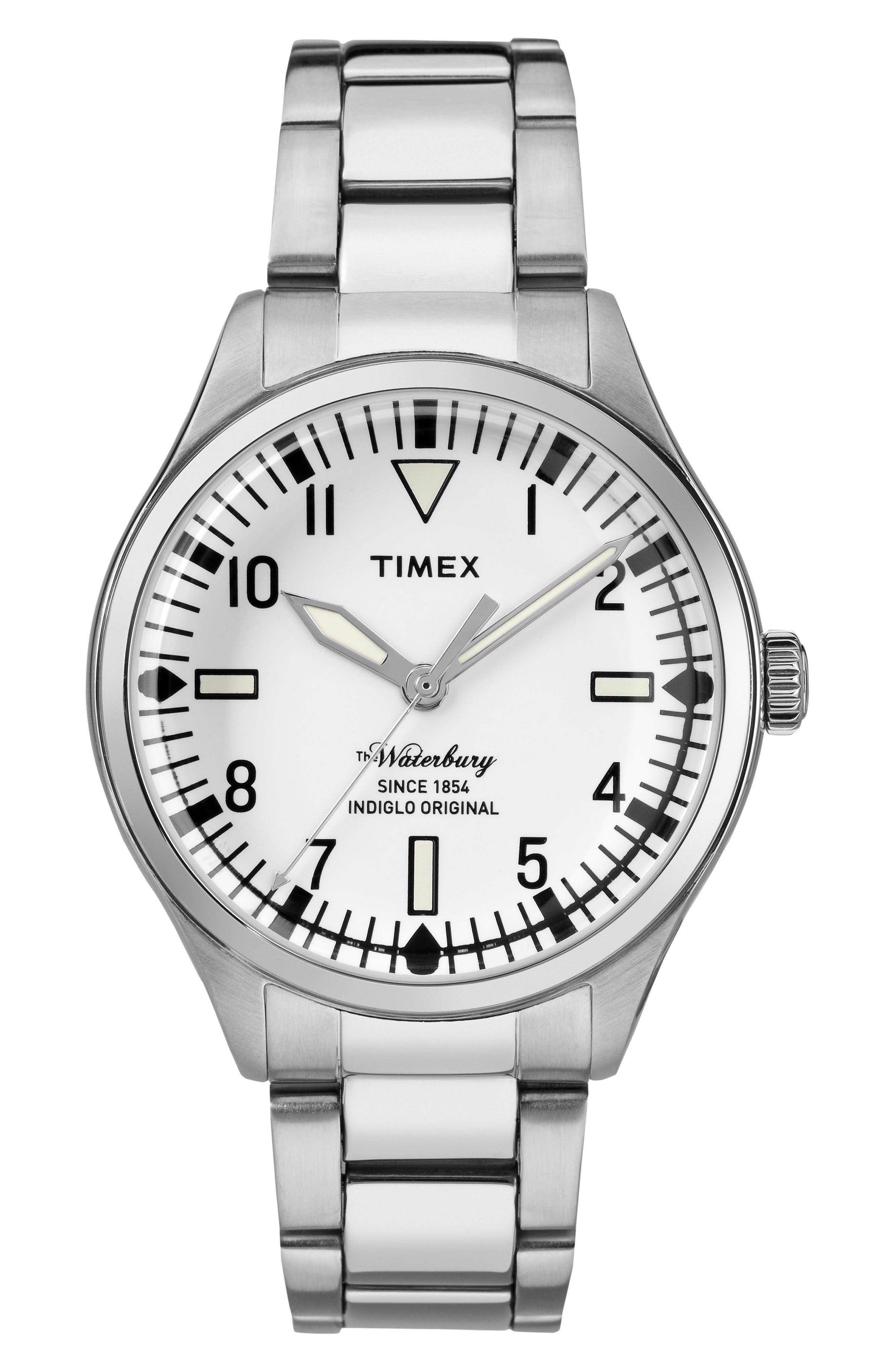 Timex® Waterbury Bracelet Watch, 38mm