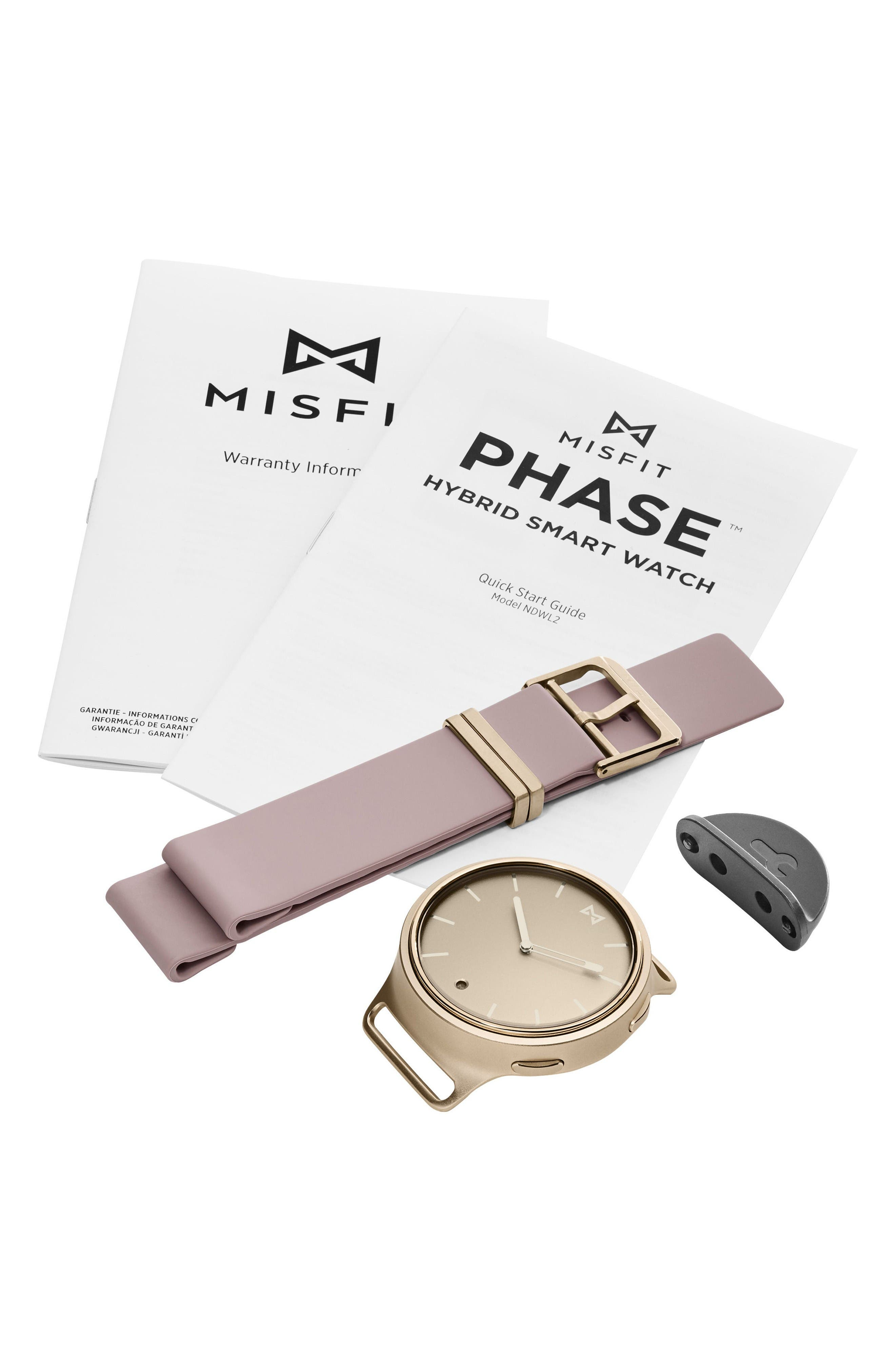 Alternate Image 3  - Misfit Phase Silicone Strap Smart Watch, 40mm