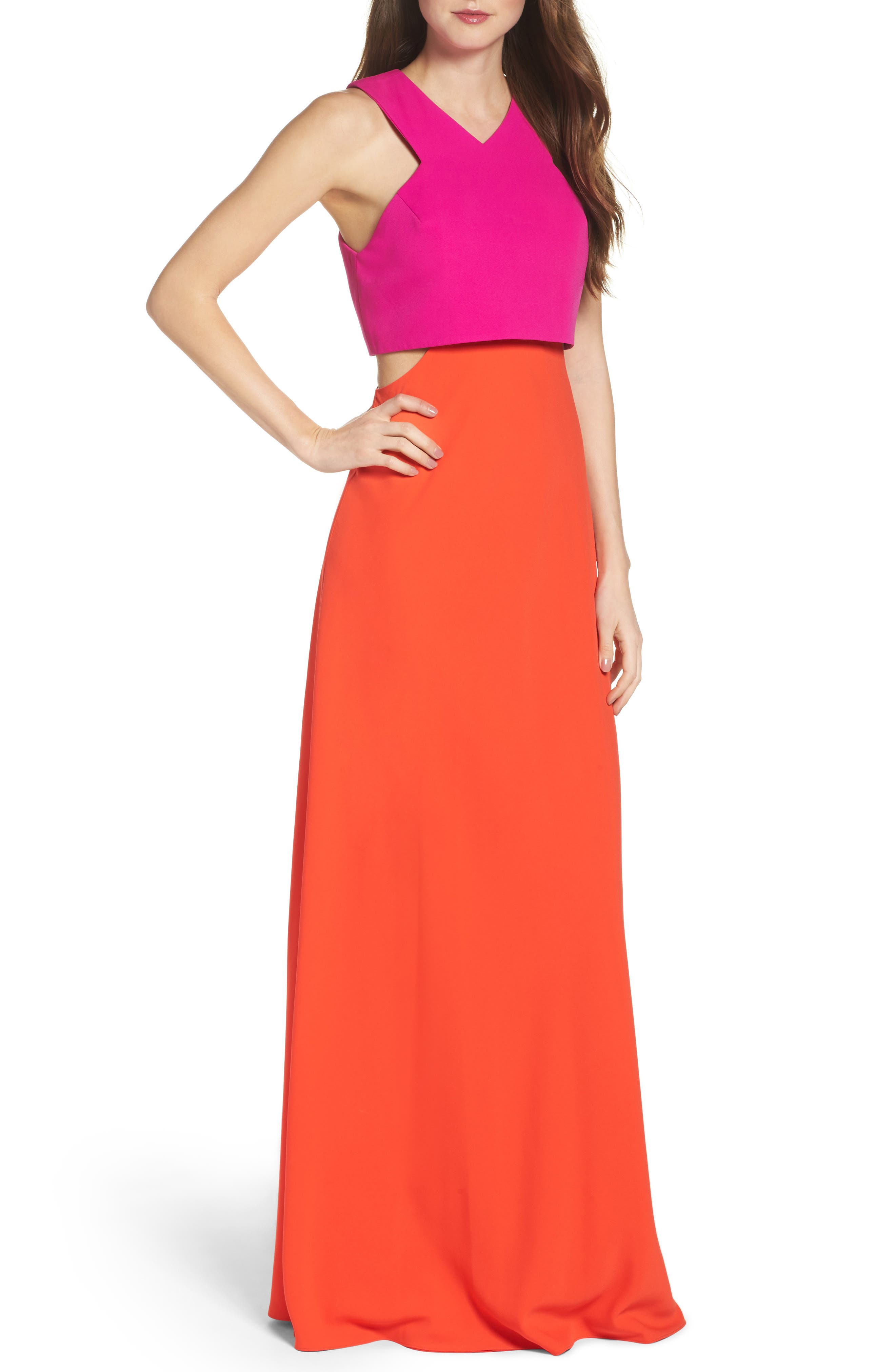 Alternate Image 1 Selected - Jill Jill Stuart Popover Crepe Gown