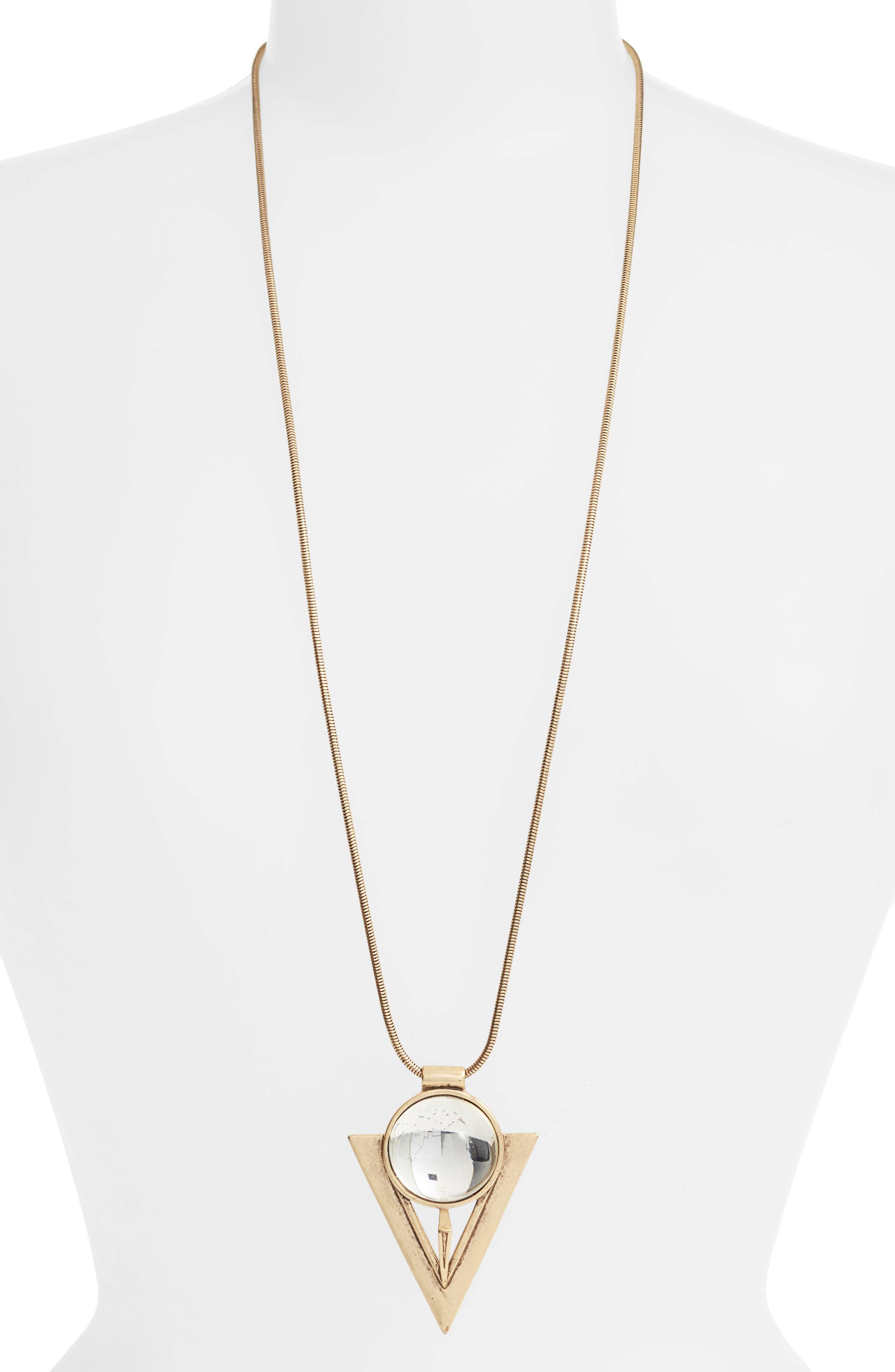 Bowie Pendant Necklace,                         Main,                         color, Gold