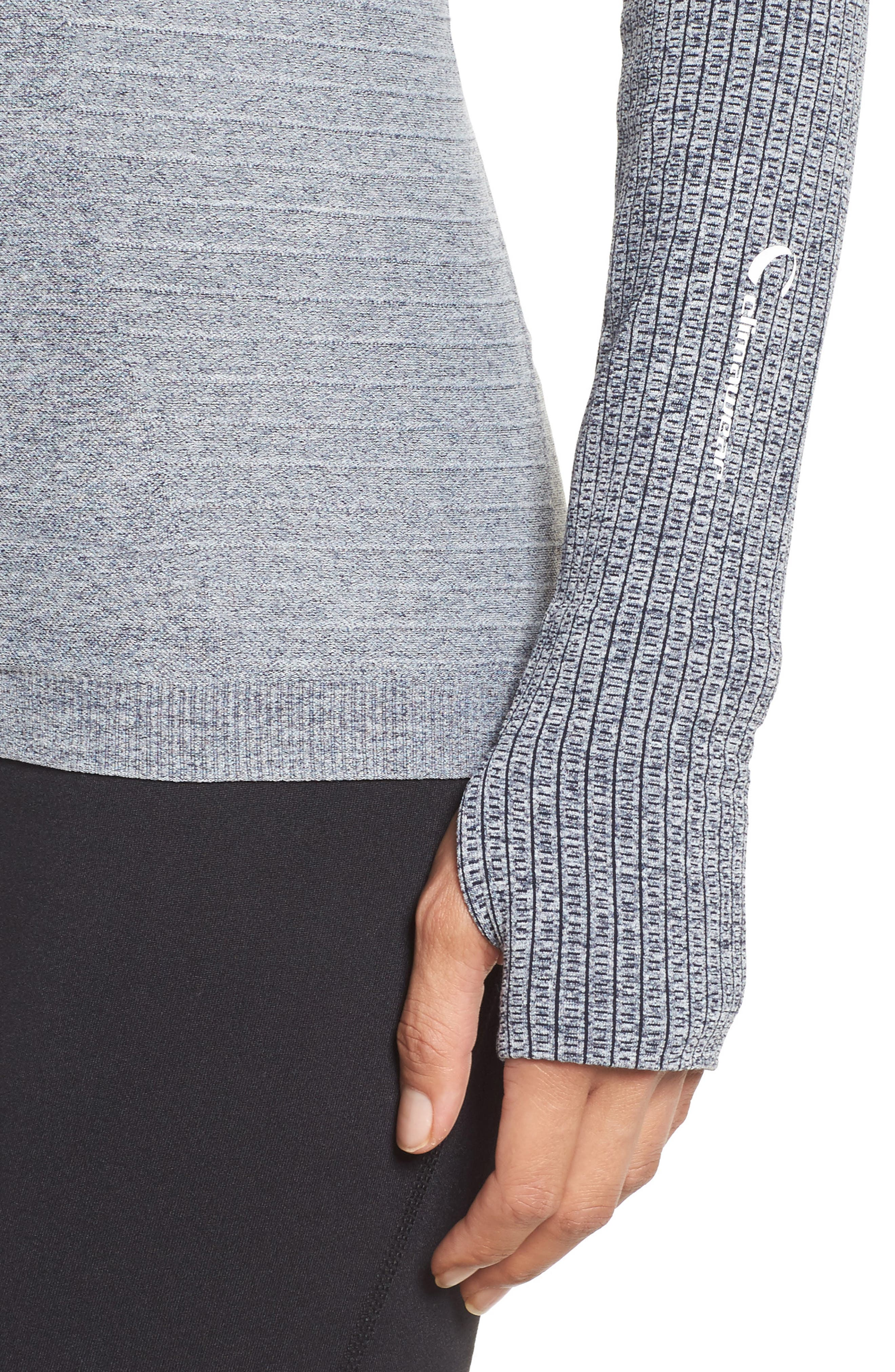 Dynamic Running Top,                             Alternate thumbnail 4, color,                             Grey/ White Melange