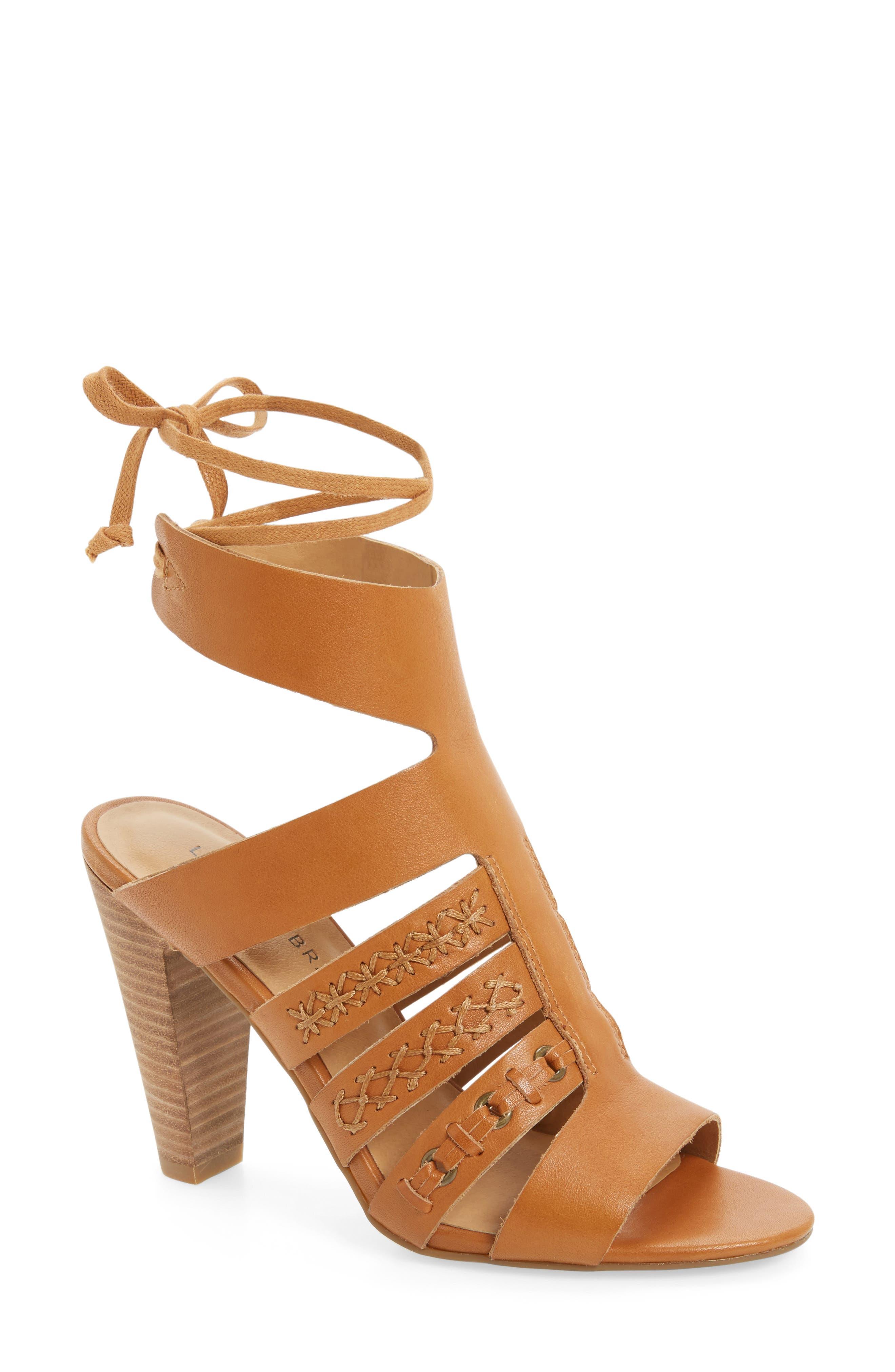 Radfas Lace-Up Sandal,                             Main thumbnail 1, color,                             Cafe Leather