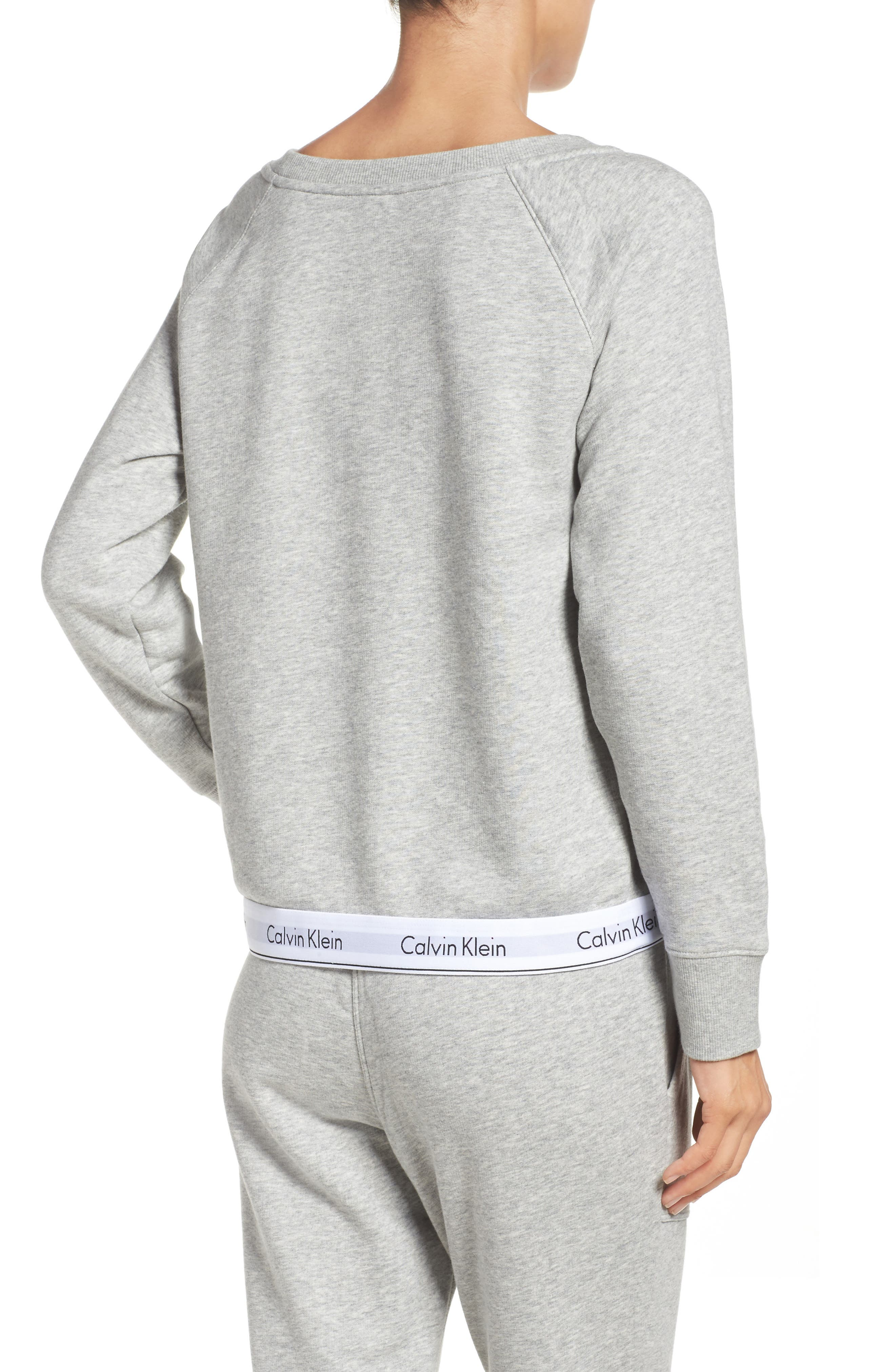 Alternate Image 2  - Calvin Klein Lounge Sweatshirt