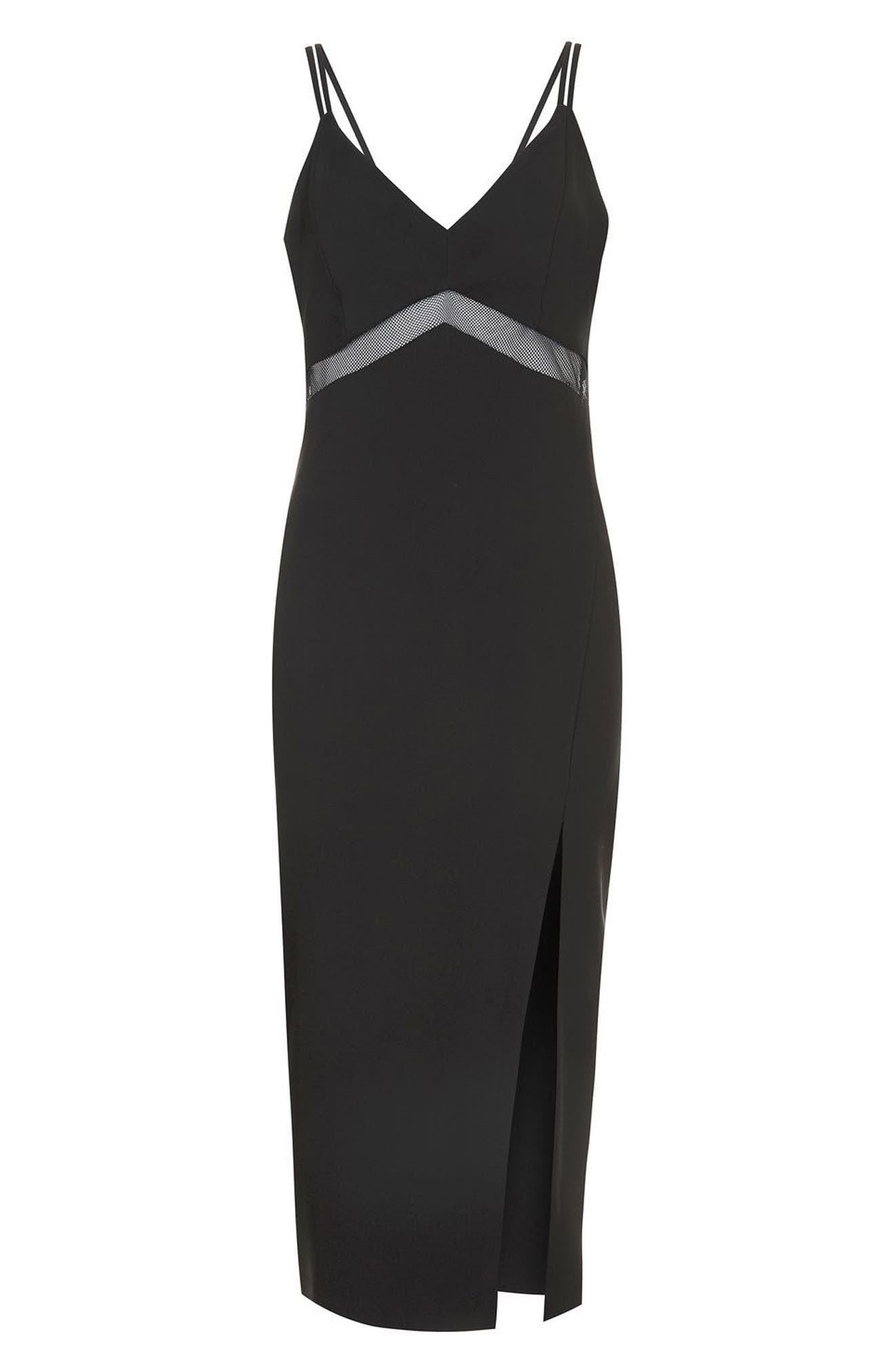 Alternate Image 4  - Topshop Mesh Inset Body-Con Dress