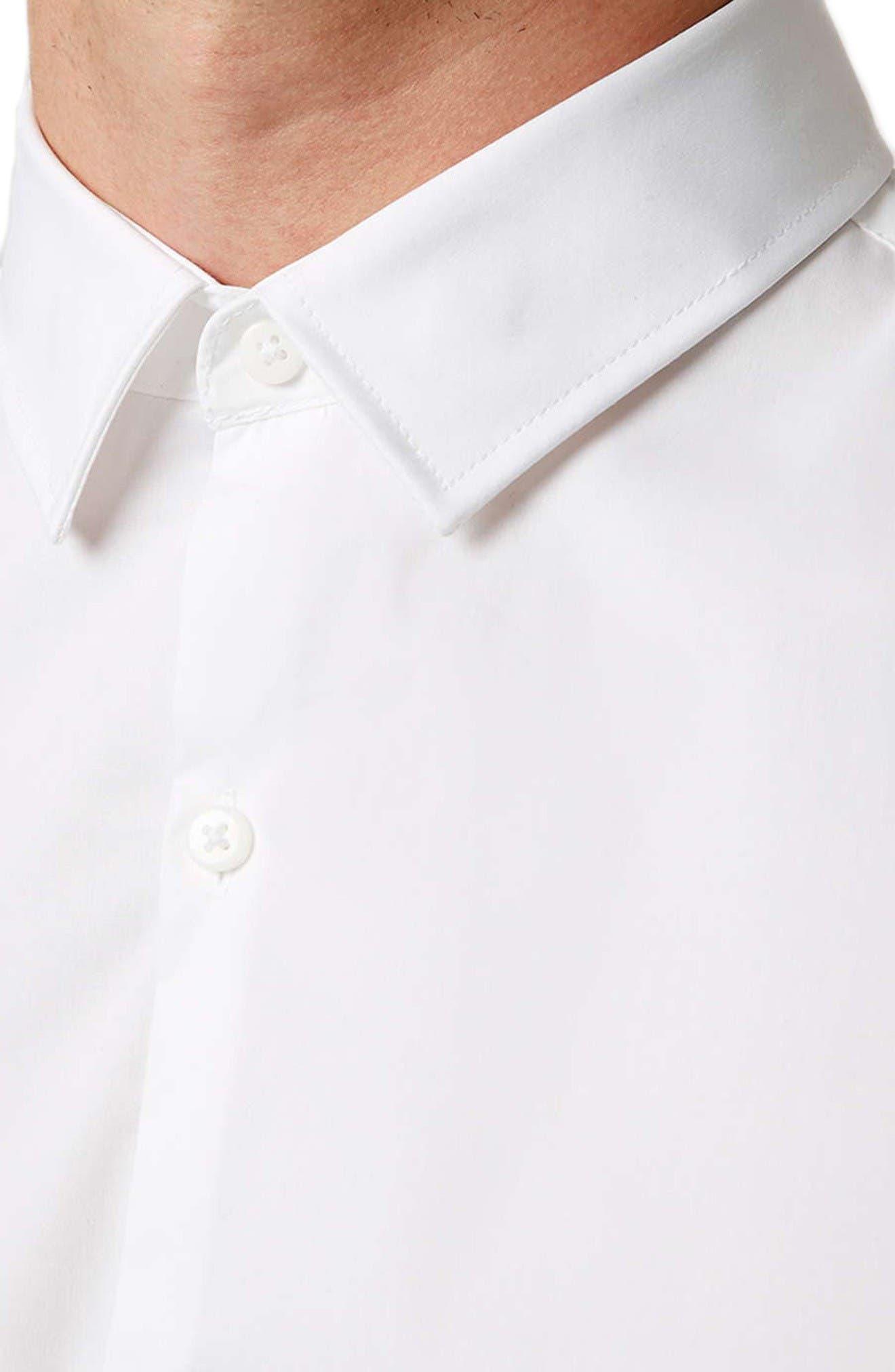 Long Sleeve Woven Shirt,                             Alternate thumbnail 2, color,                             White