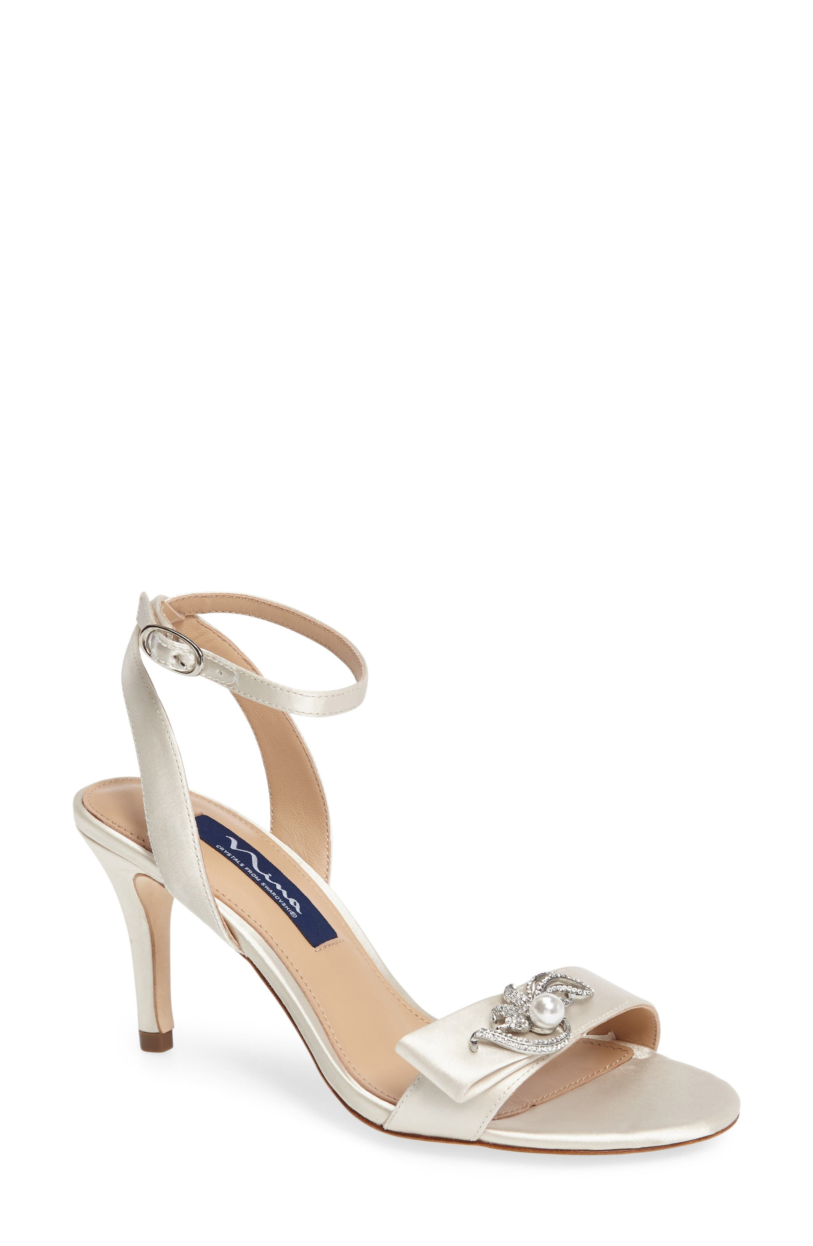 Alternate Image 1 Selected - Nina Kabira Swarovski Embellished Strappy Sandal (Women)