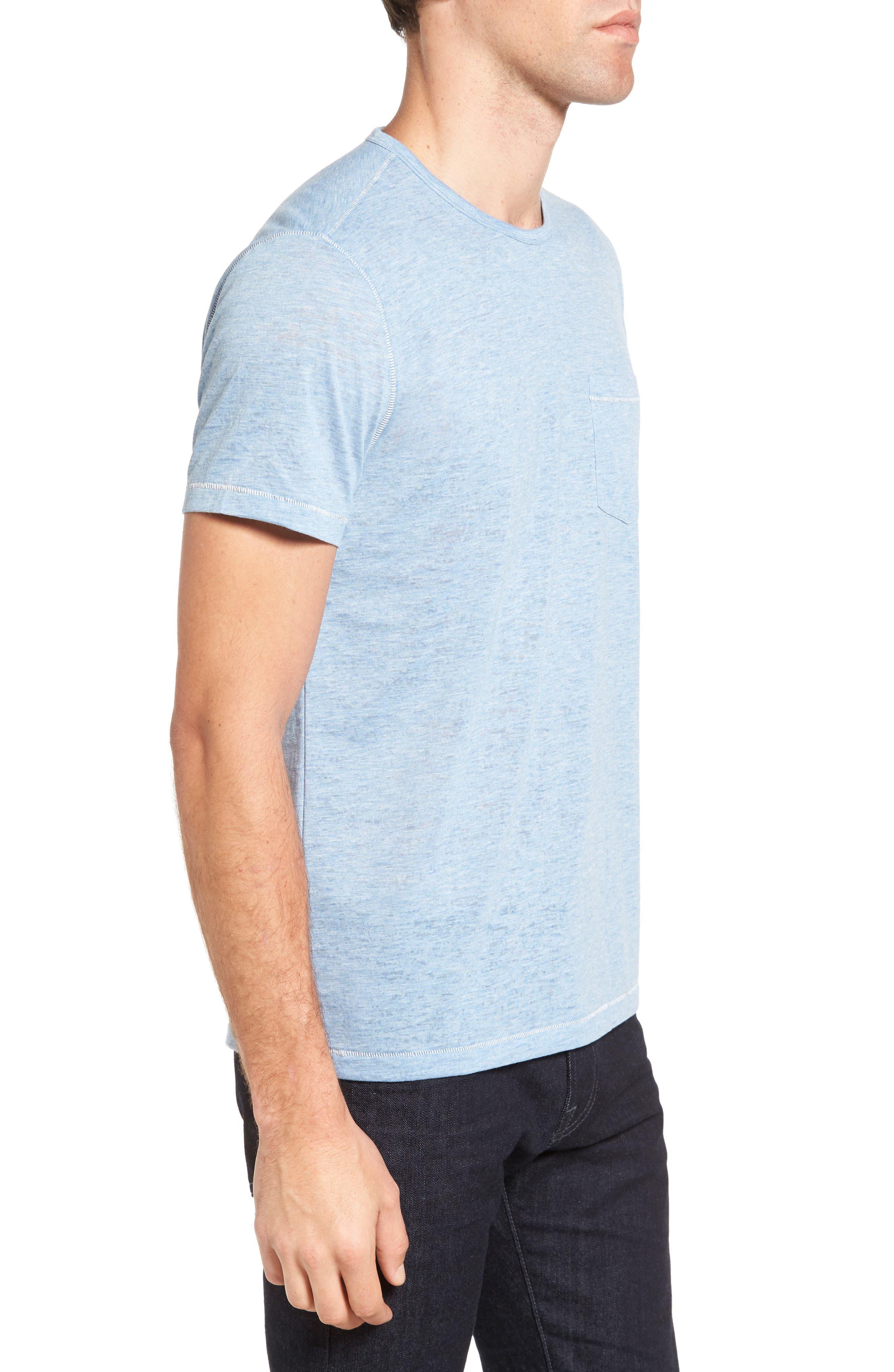 Alternate Image 3  - John Varvatos Star USA Burnout Trim Fit T-Shirt