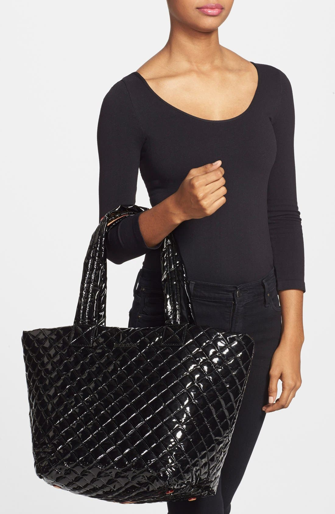 Alternate Image 2  - MZ Wallace 'Medium Metro' Quilted Lacquer Tote