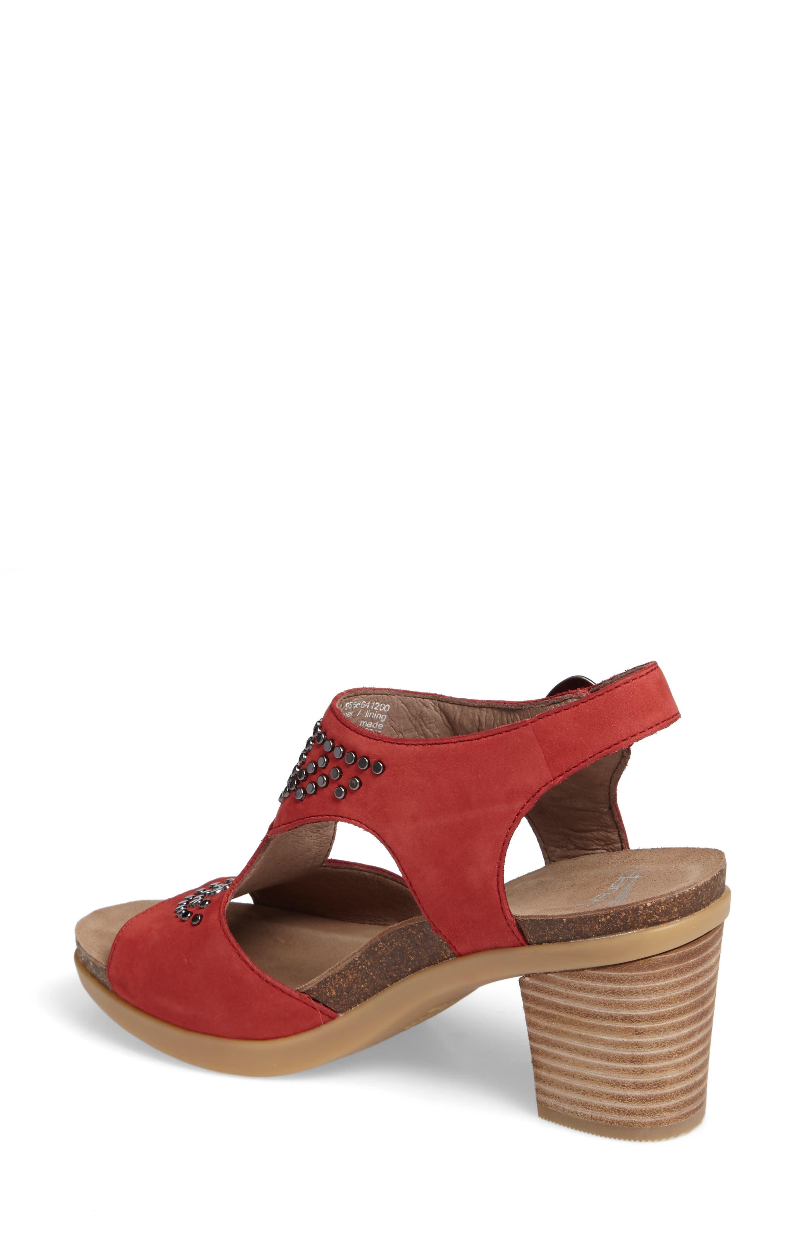 Alternate Image 2  - Dansko Deandra Studded Sandal (Women)