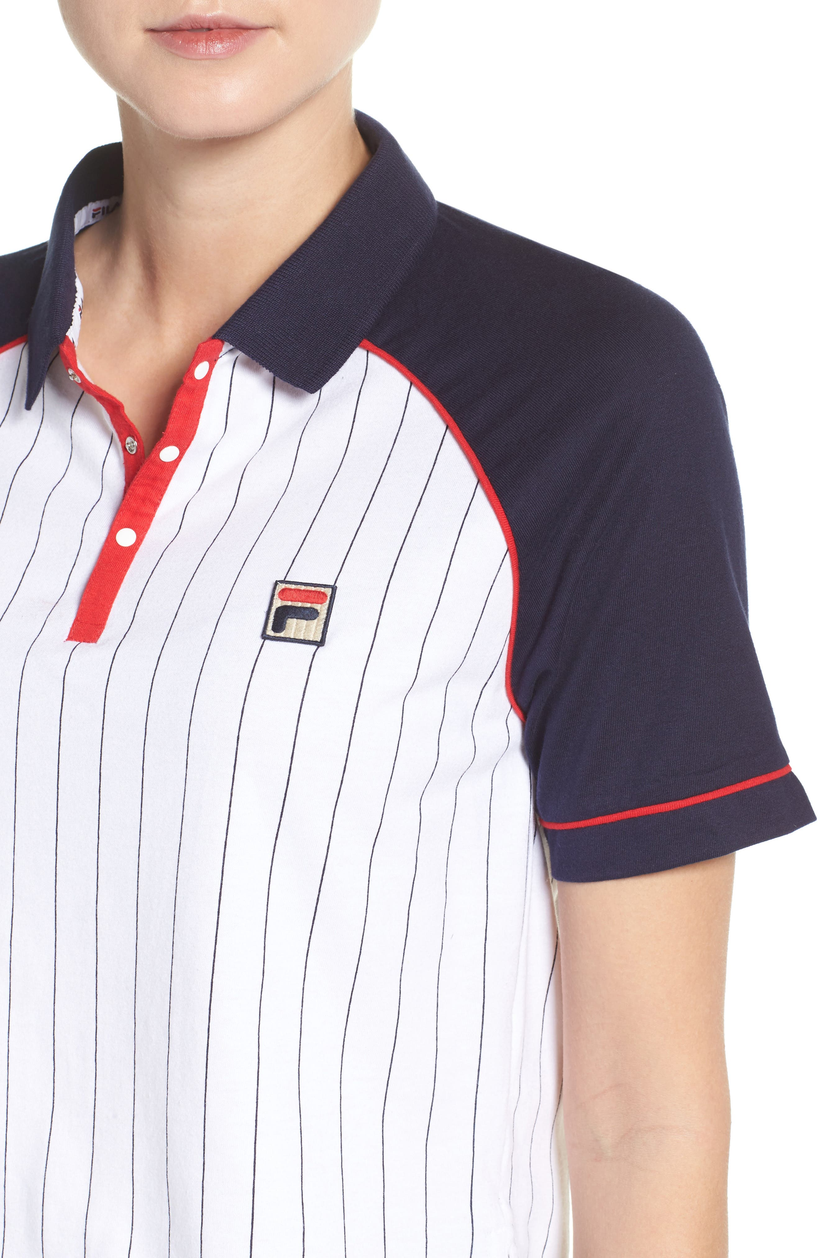 Alternate Image 4  - FILA Carletta Crop Polo