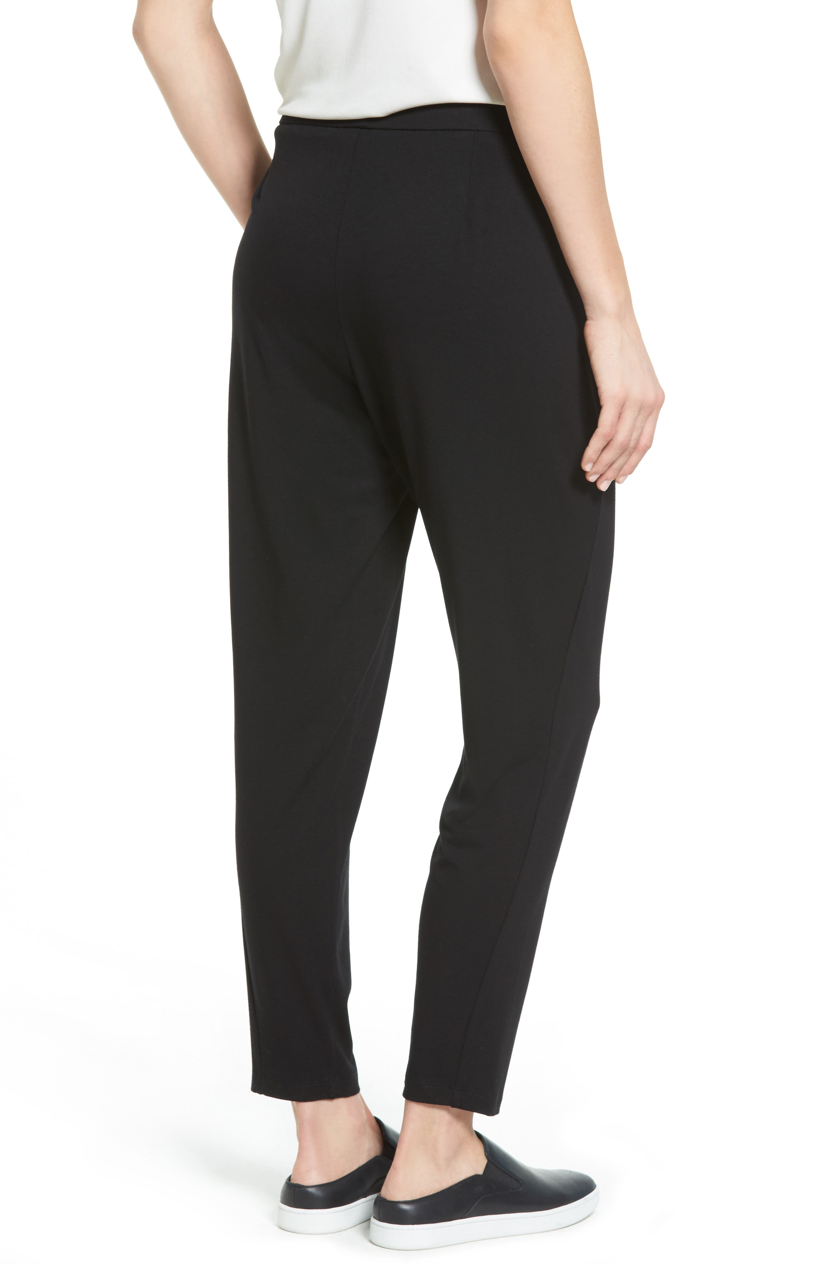 Alternate Image 2  - Eileen Fisher Crop Stretch Knit Pants (Regular & Petite)