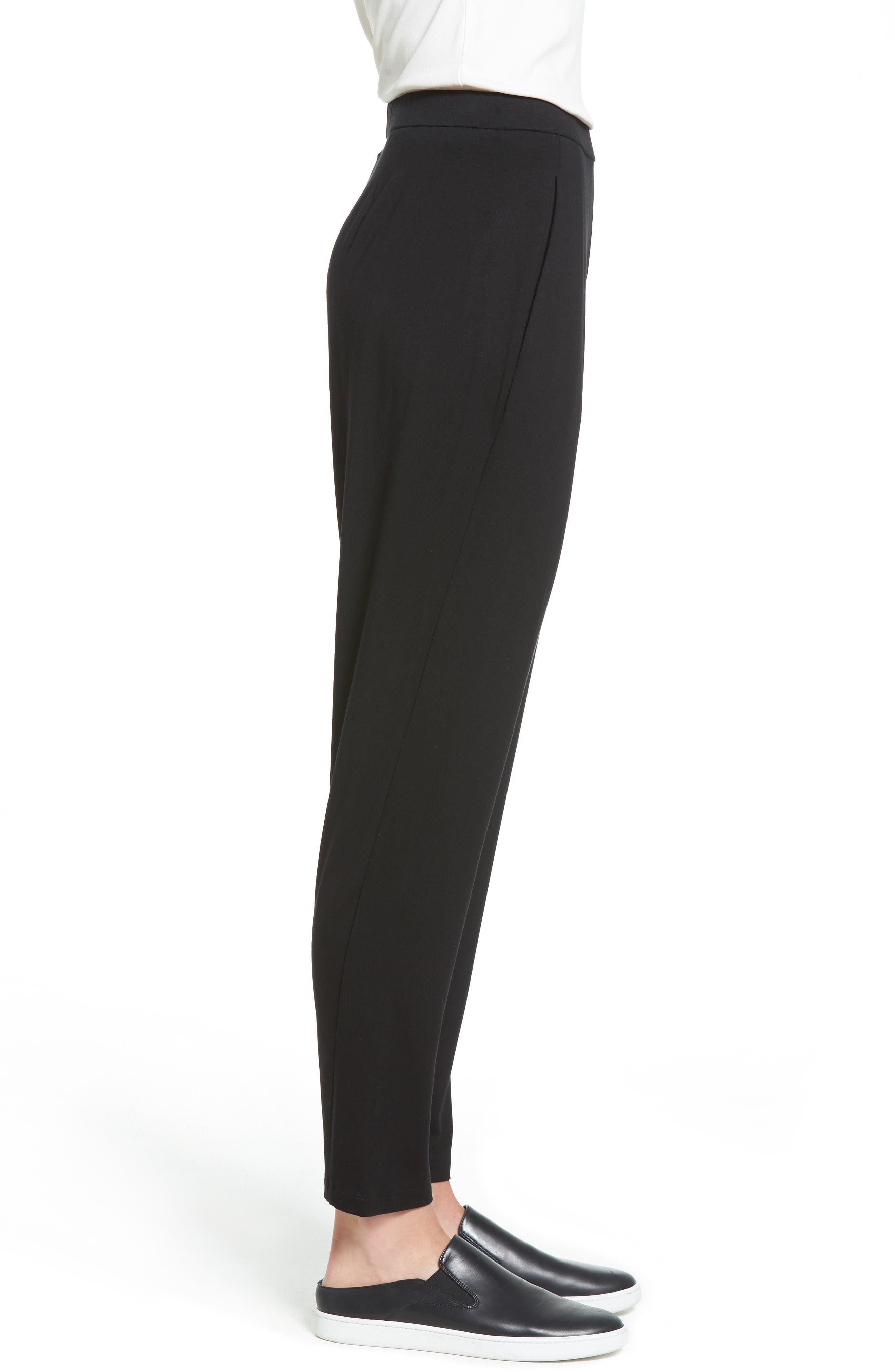 Alternate Image 3  - Eileen Fisher Crop Stretch Knit Pants (Regular & Petite)
