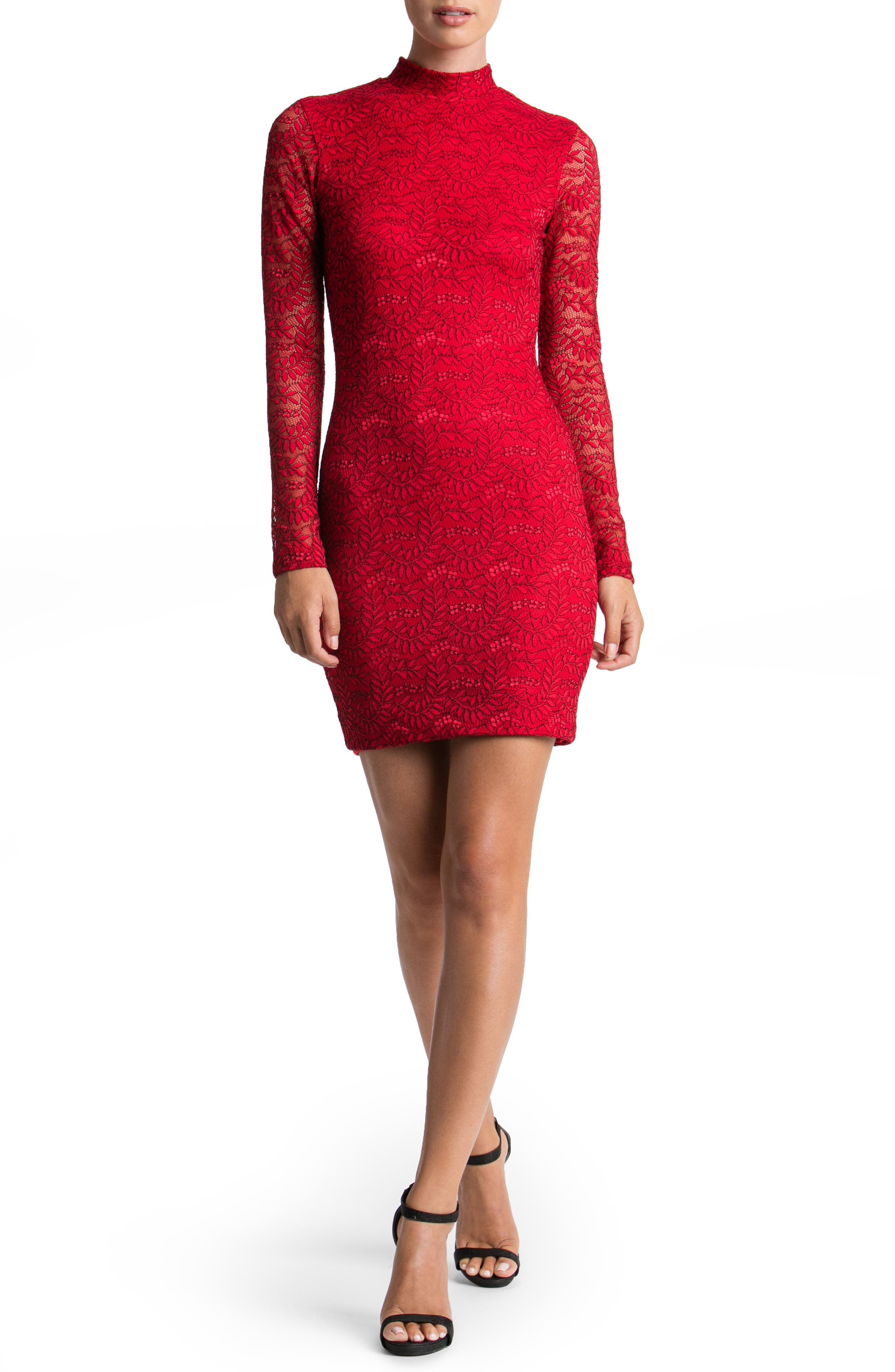 Main Image - Dress the Population Penelope Lace Body-Con Dress
