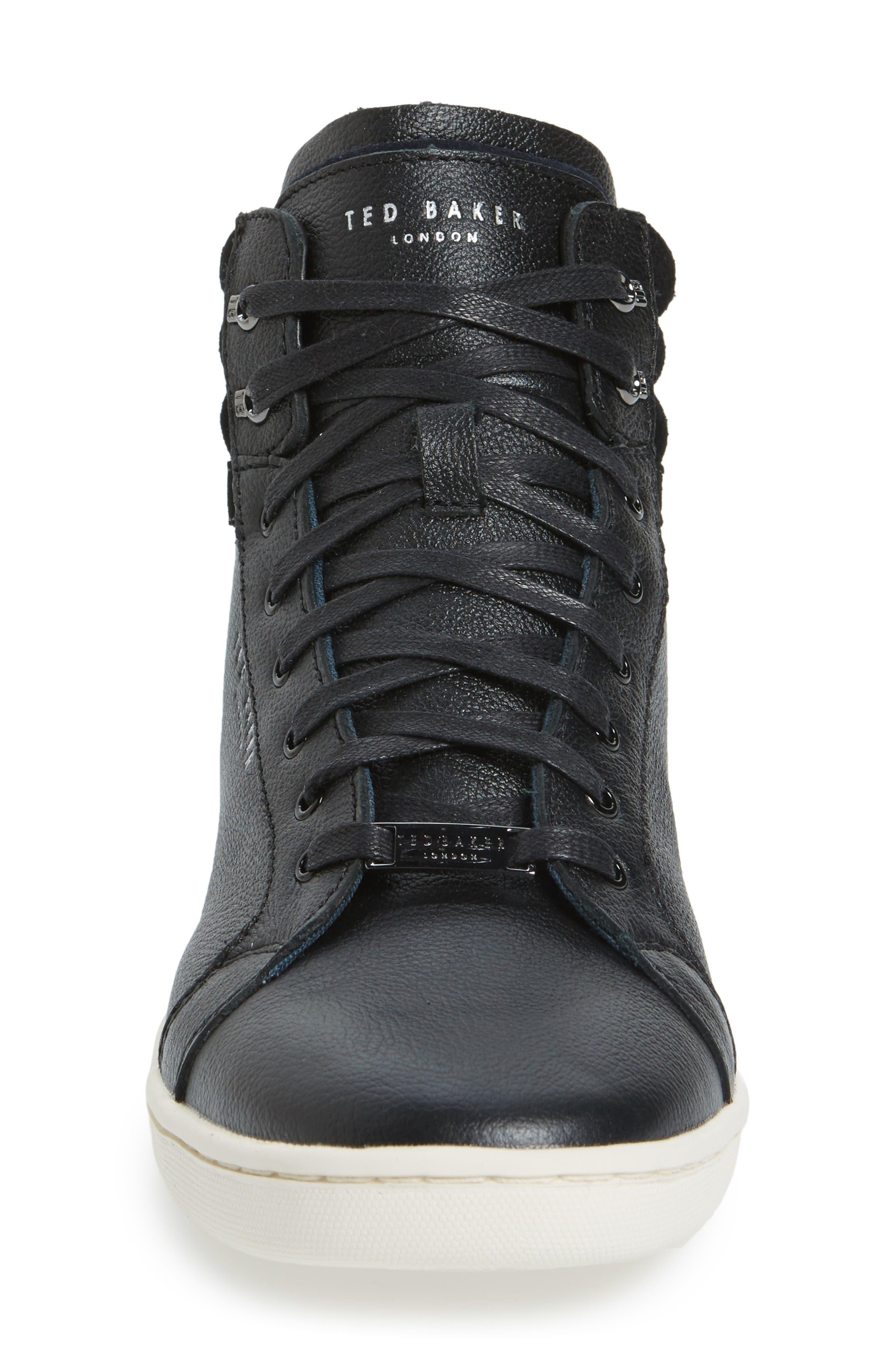 Mykka Sneaker,                             Alternate thumbnail 3, color,                             Black Leather