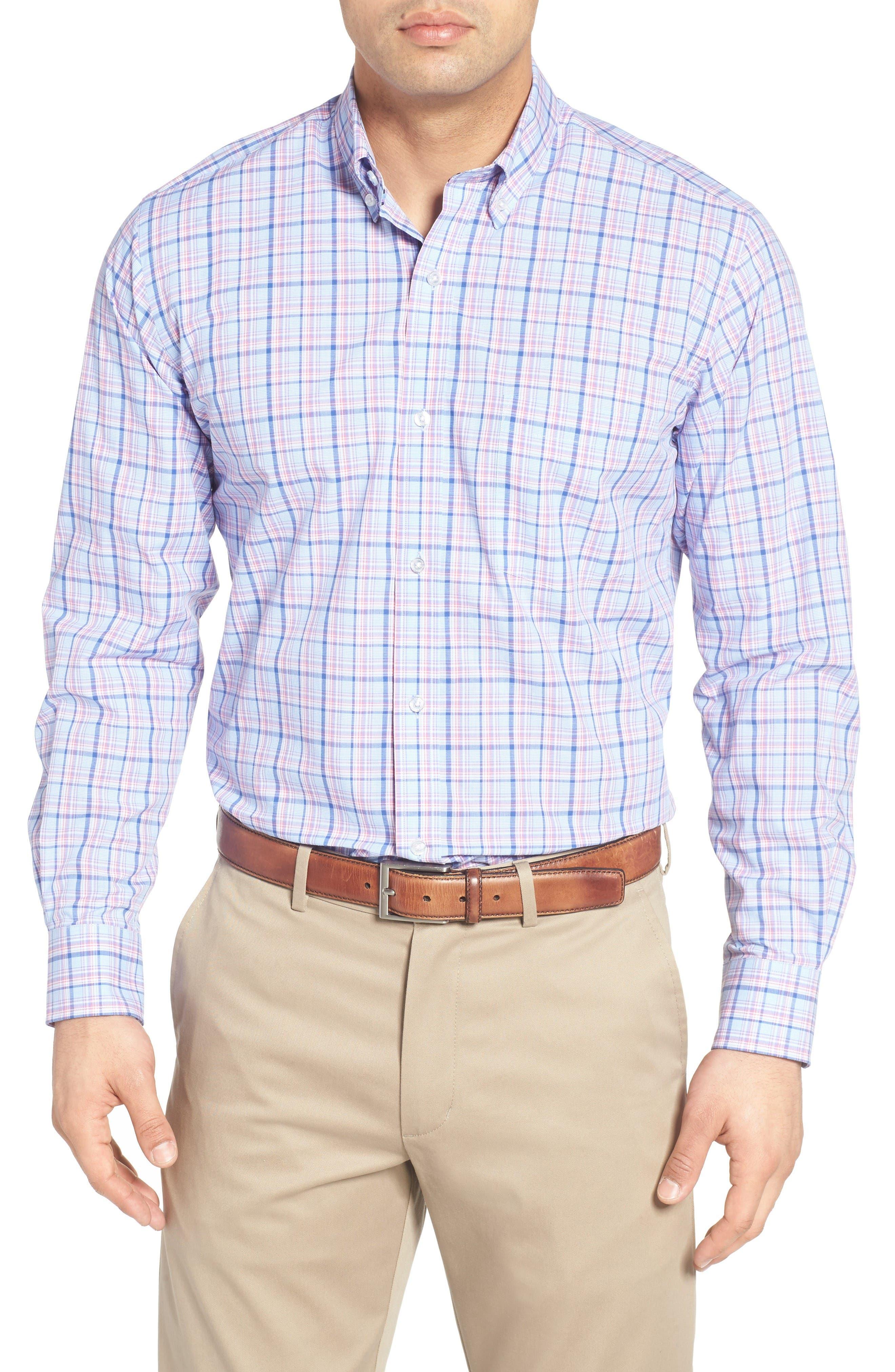 Main Image - Tailorbyrd Arbor Plaid Sport Shirt