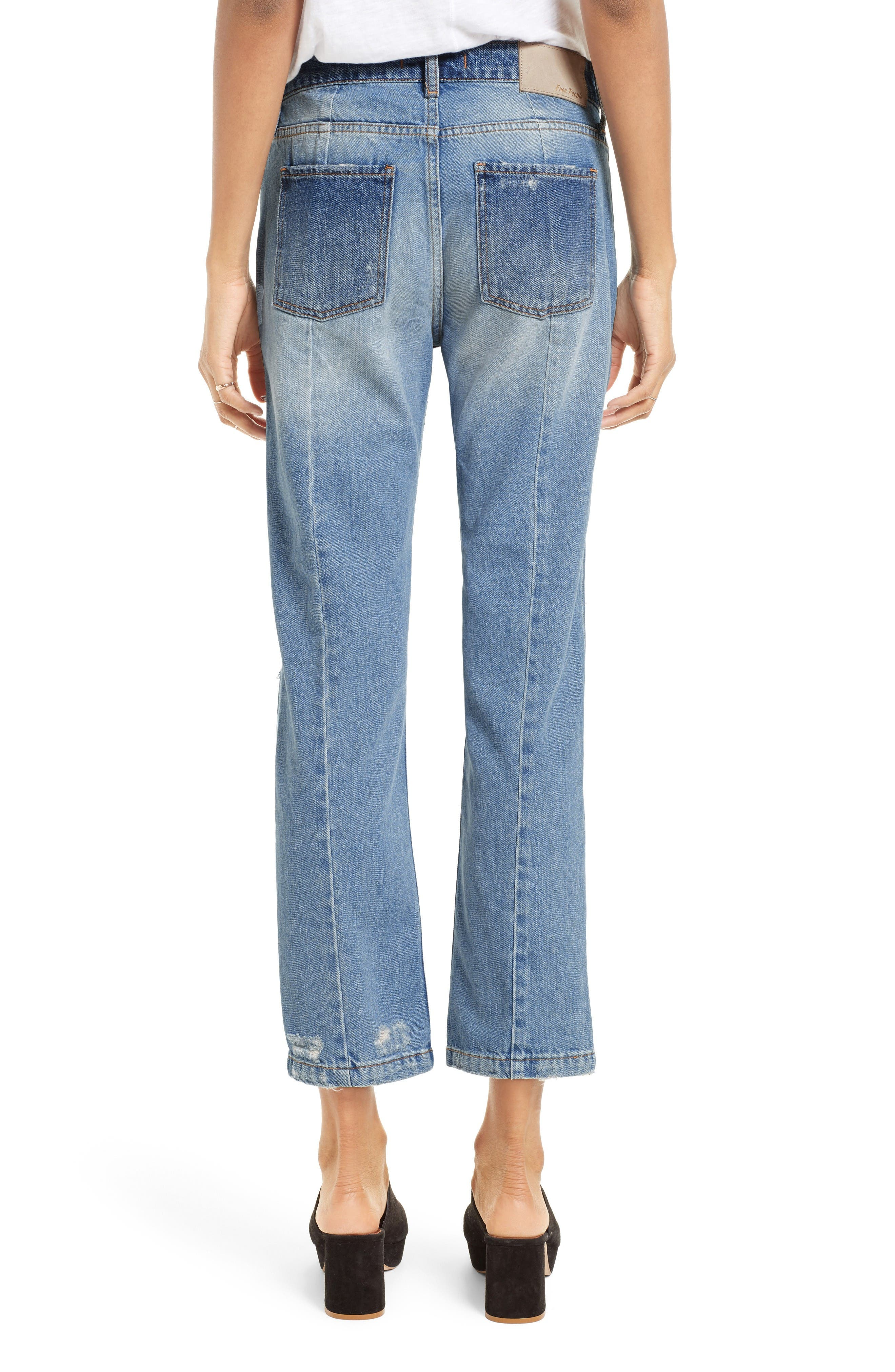 Alternate Image 3  - Free People The Patchwork High Waist Crop Jeans