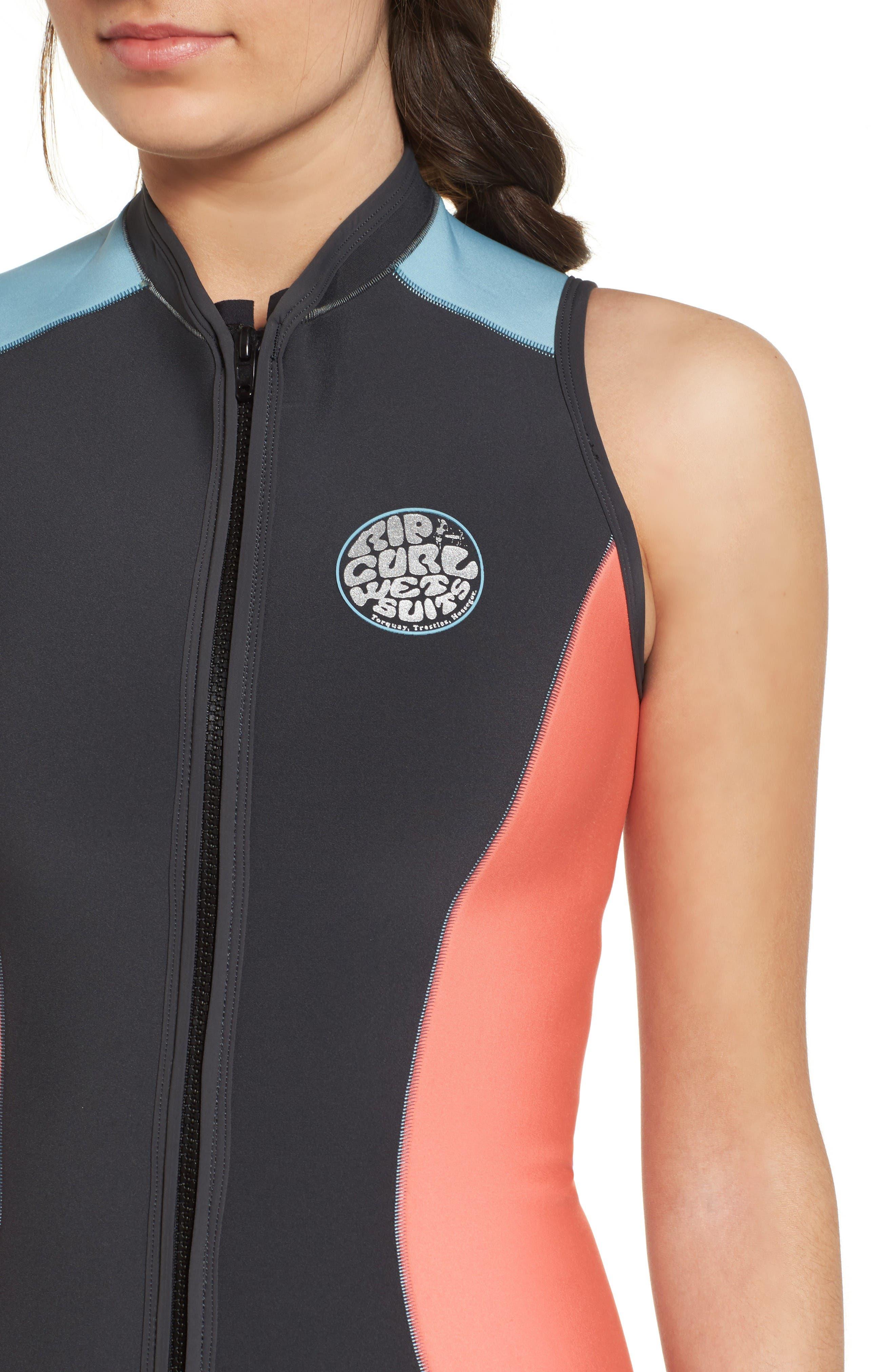 G-Bomb Wetsuit Vest,                             Alternate thumbnail 4, color,                             Coral