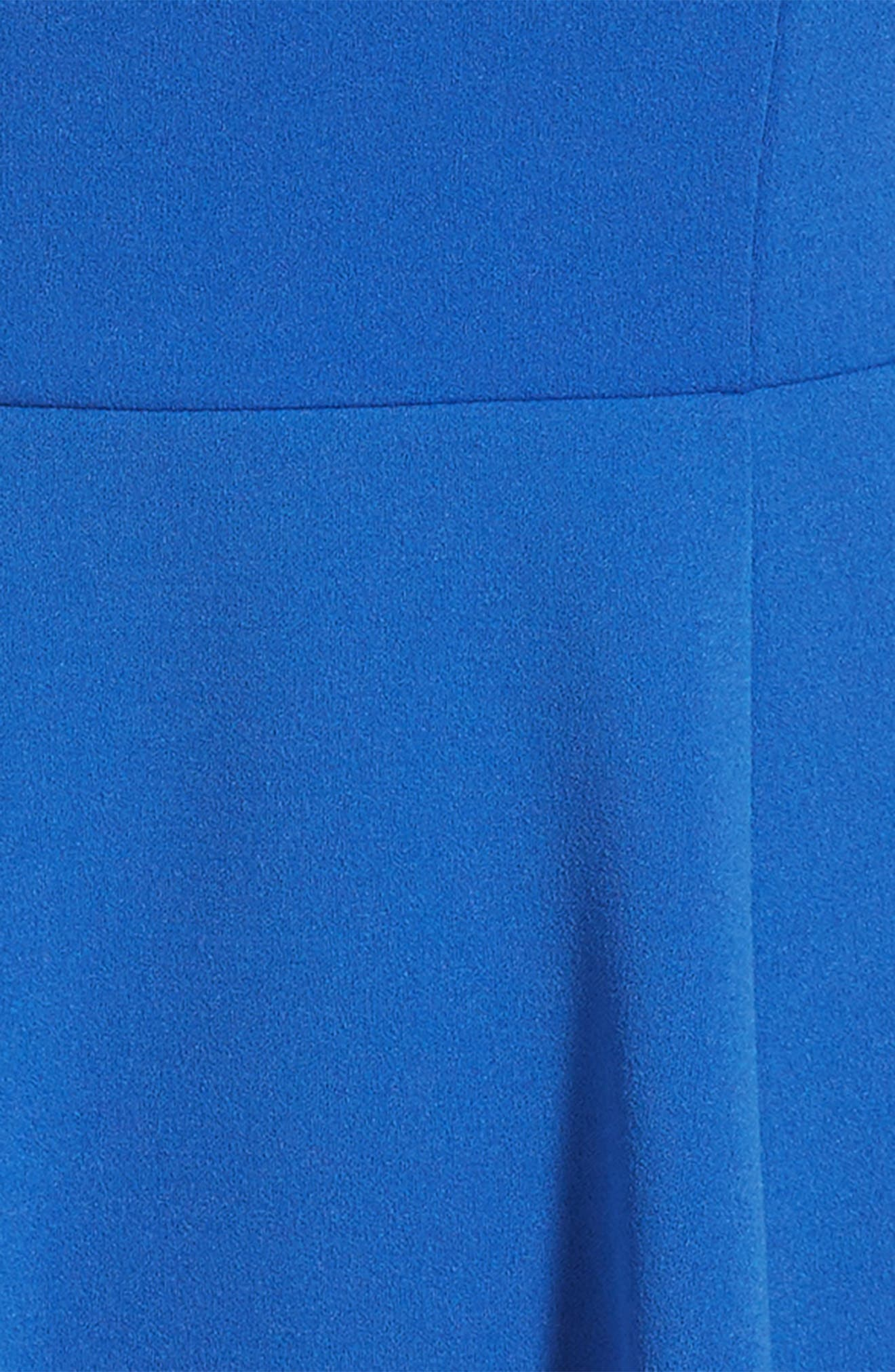 Off the Shoulder Ruffle Dress,                             Alternate thumbnail 3, color,                             Royal Blue