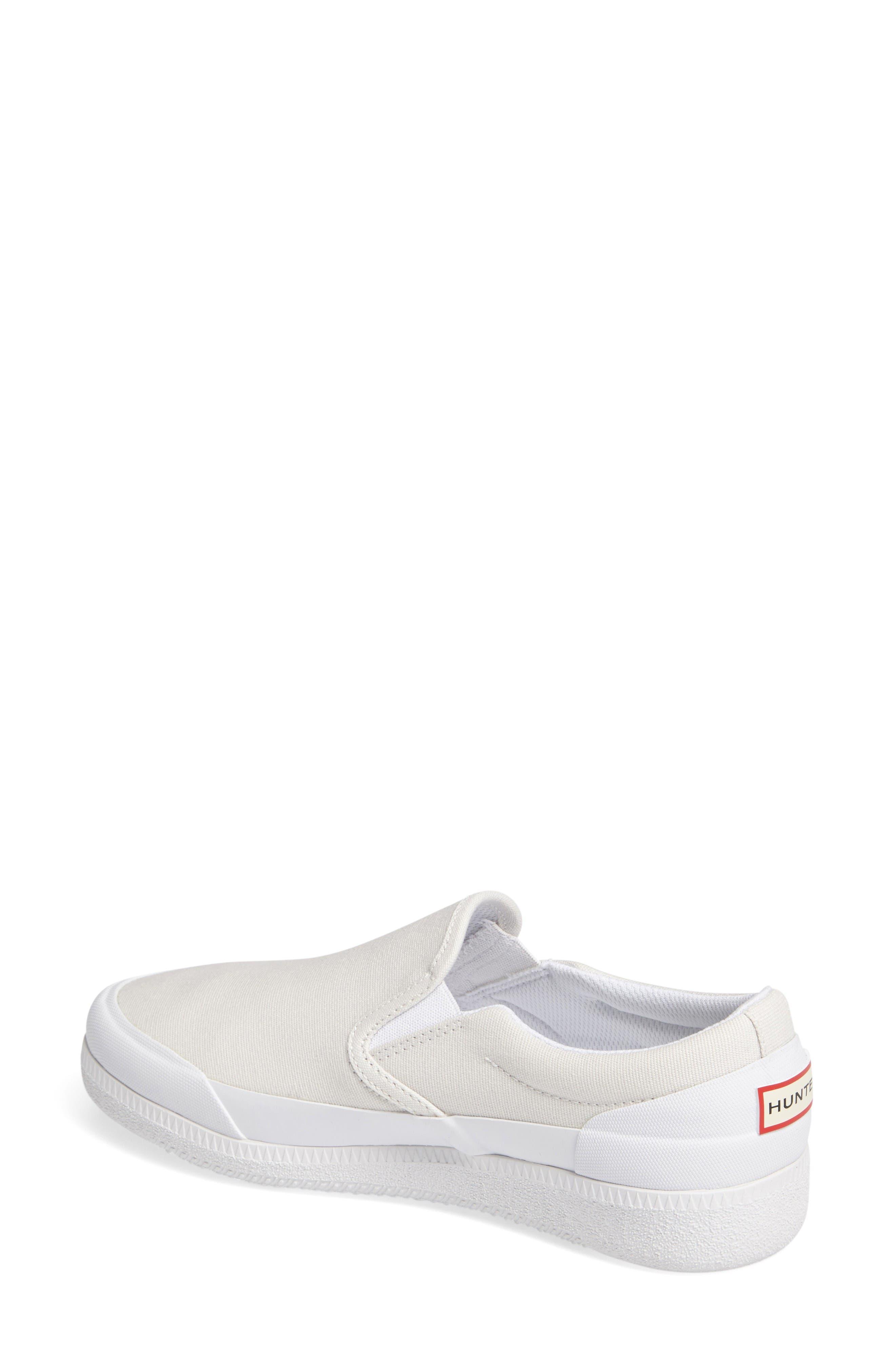 Original Waterproof Slip-On Sneaker,                             Alternate thumbnail 2, color,                             White Canvas