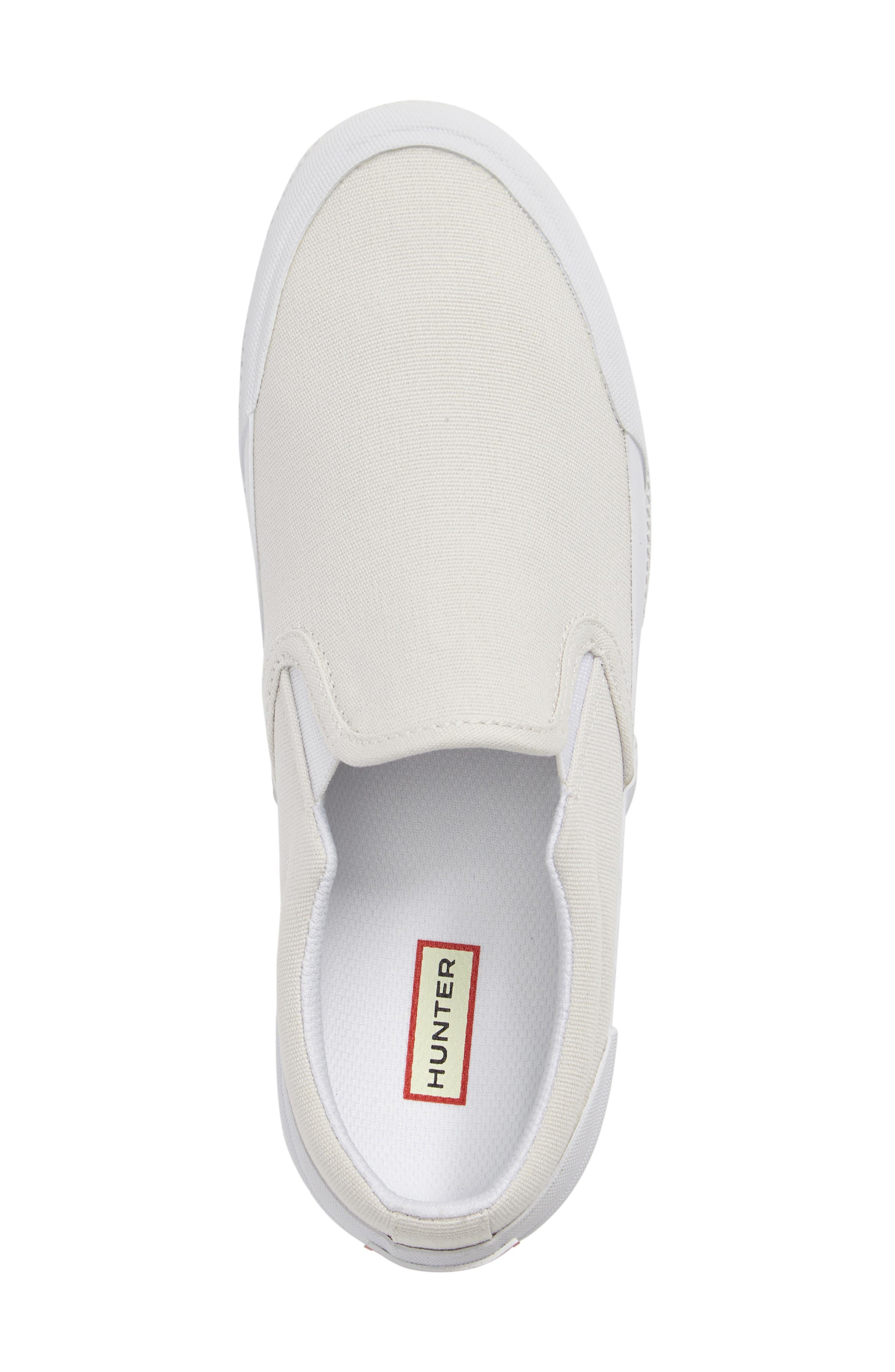 Original Waterproof Slip-On Sneaker,                             Alternate thumbnail 4, color,                             White Canvas