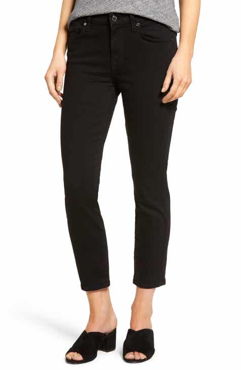 rag & bone Ruth Super High Waist Raw Hem Straight Leg Jeans (Ave) by RAG AND BONE