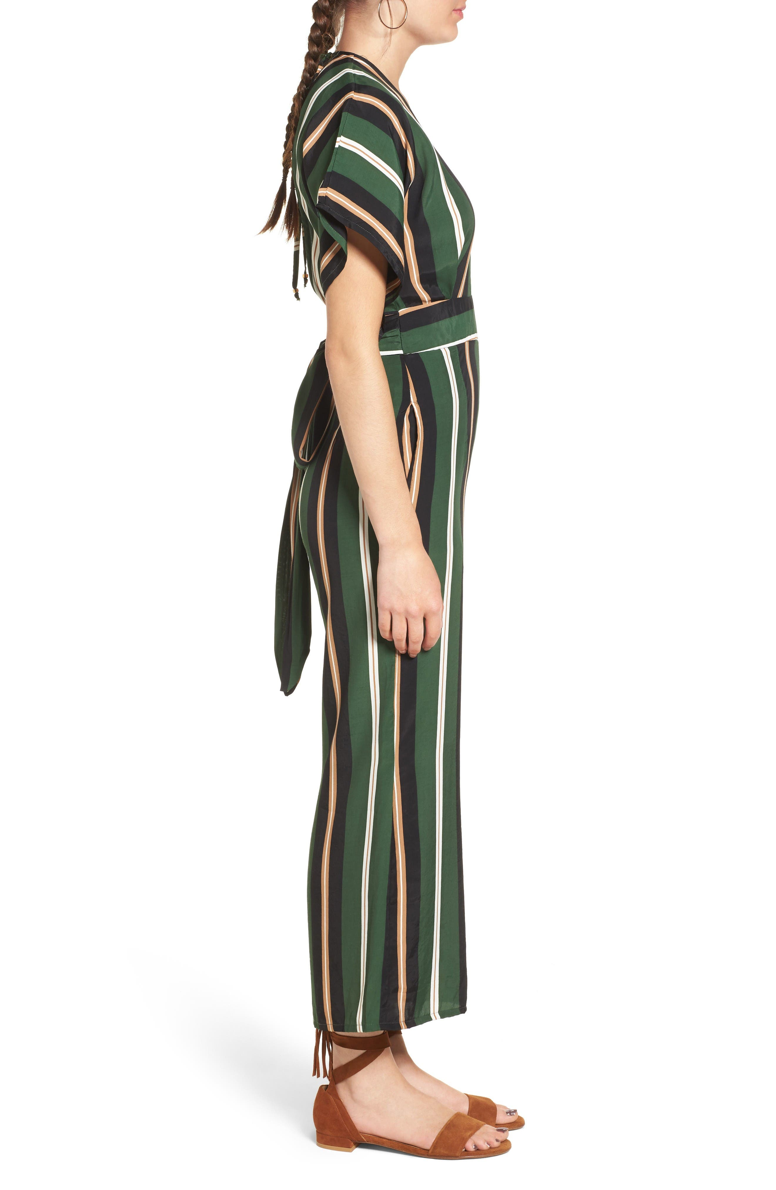 Cedric Jumpsuit,                             Alternate thumbnail 4, color,                             Firenze Stripes Green/Blk