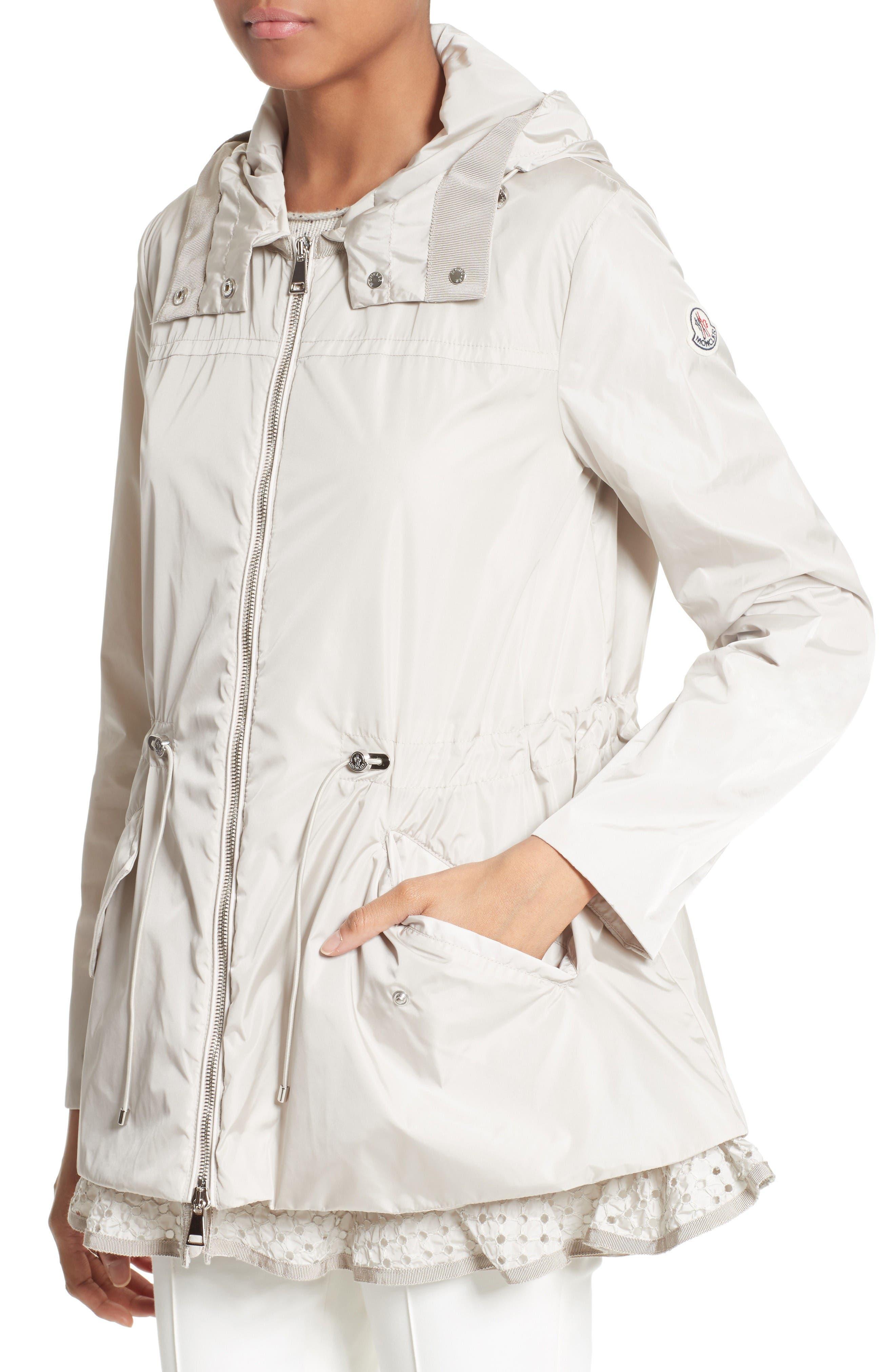 Alternate Image 6  - Moncler Lotus Water Resistant Peplum Raincoat